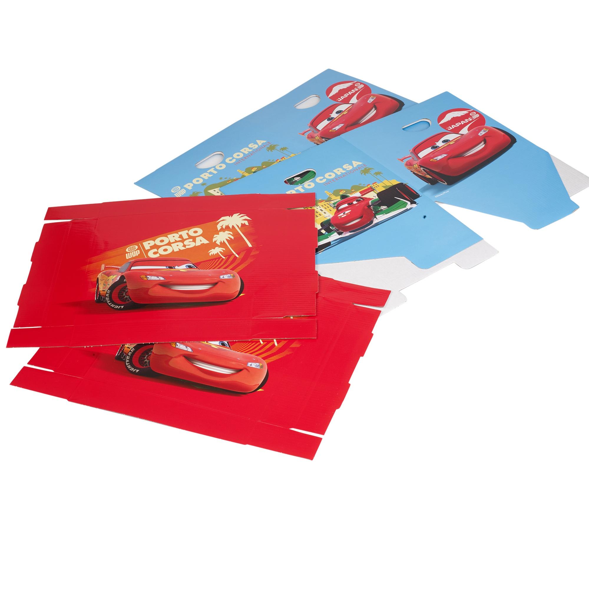 Set da 2 disney cars cartone scatole di immagazzinaggio for 2 box auto con soppalco