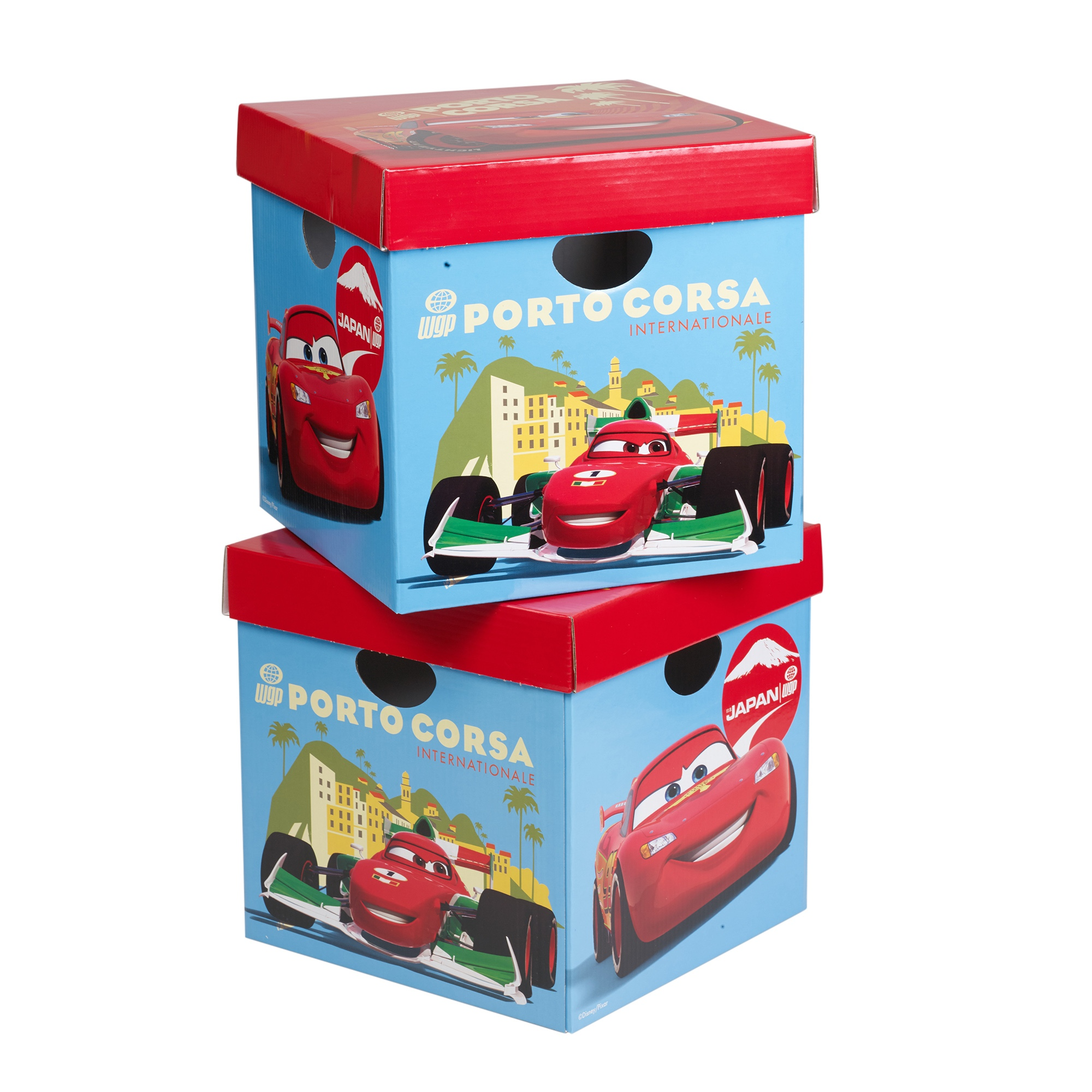 Princess Toys Box Storage Kids Girls Chest Bedroom Clothes: Disney Cars Cardboard Storage Boxes Toys Arts Playroom Box