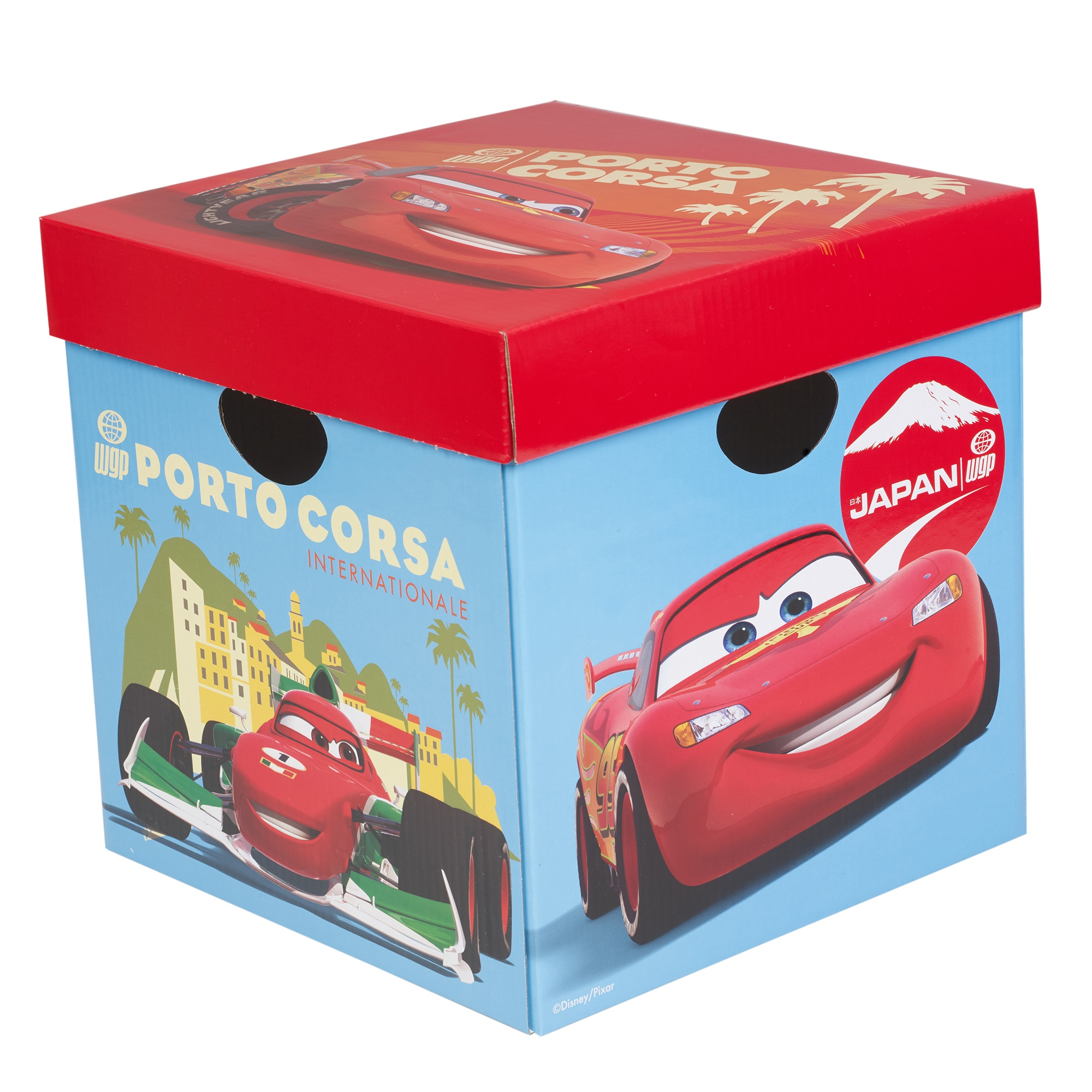 2er set disney cars karton aufbewahrungsboxen mit deckeln. Black Bedroom Furniture Sets. Home Design Ideas