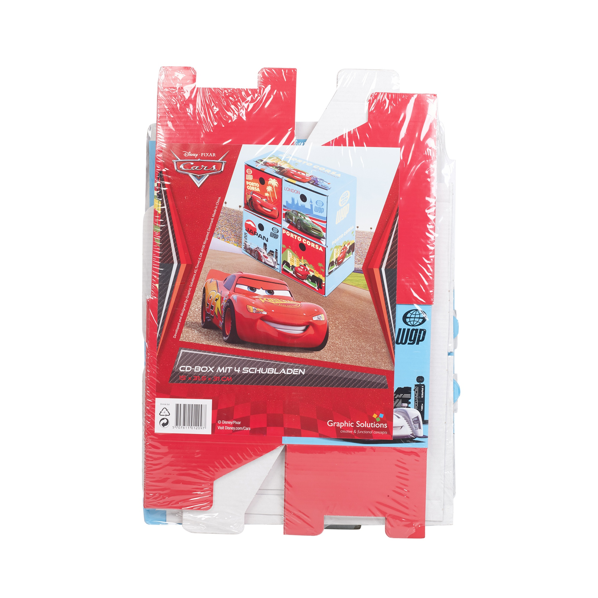 Disney Cars Kids Storage 4 Drawers Boxes Cardboard Toys ...