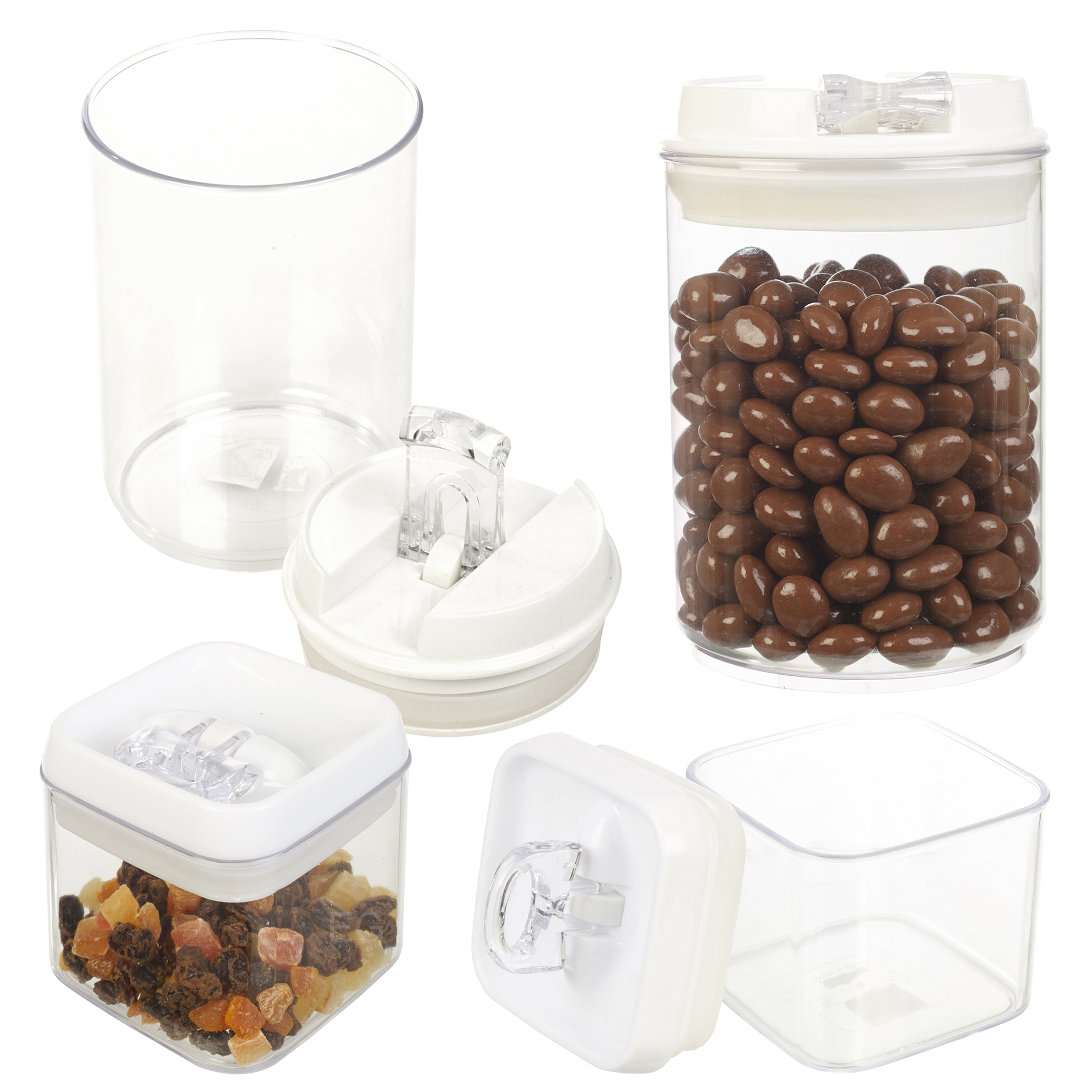 Wilkinson Air Tight Easy Clip Lock Seal Plastic Storage Food Lunch ...