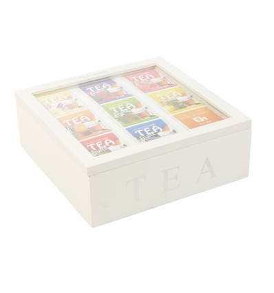White Tea Box MDF with 9 Compartments [267931]