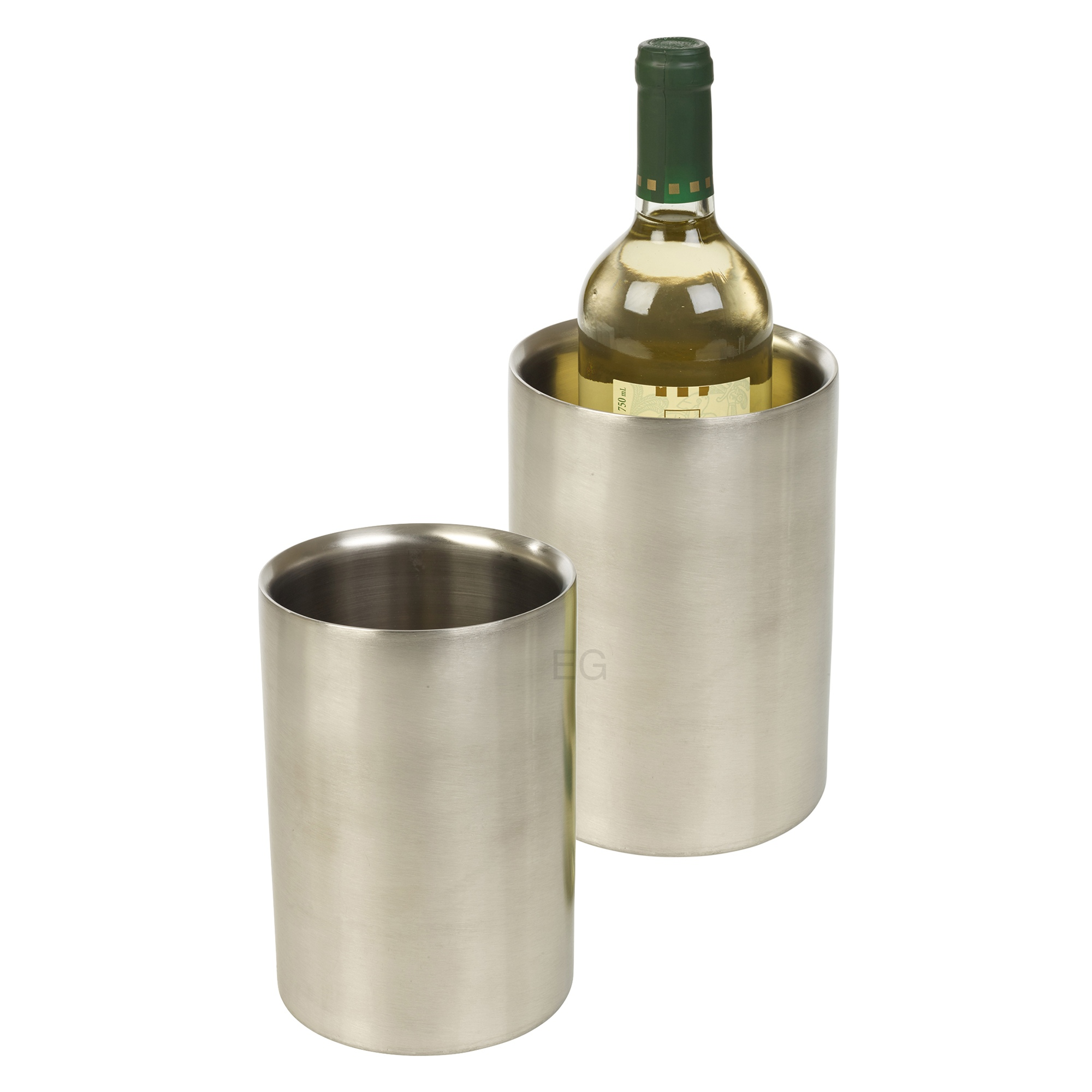 Brushed stainless steel wine drink champagne bottle ice