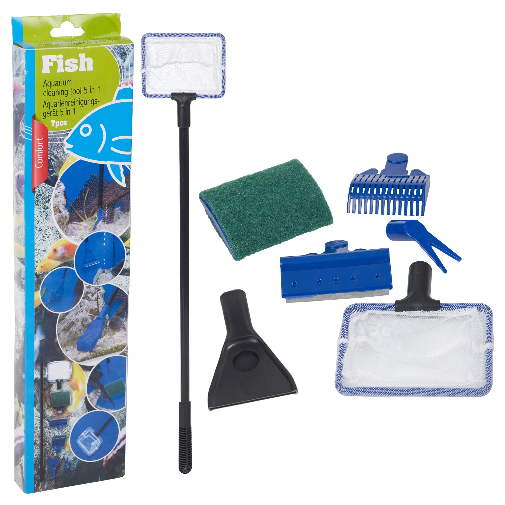 Aquarium 5in1 cleaning tool set fish tank maintenance for Fish tank cleaning service