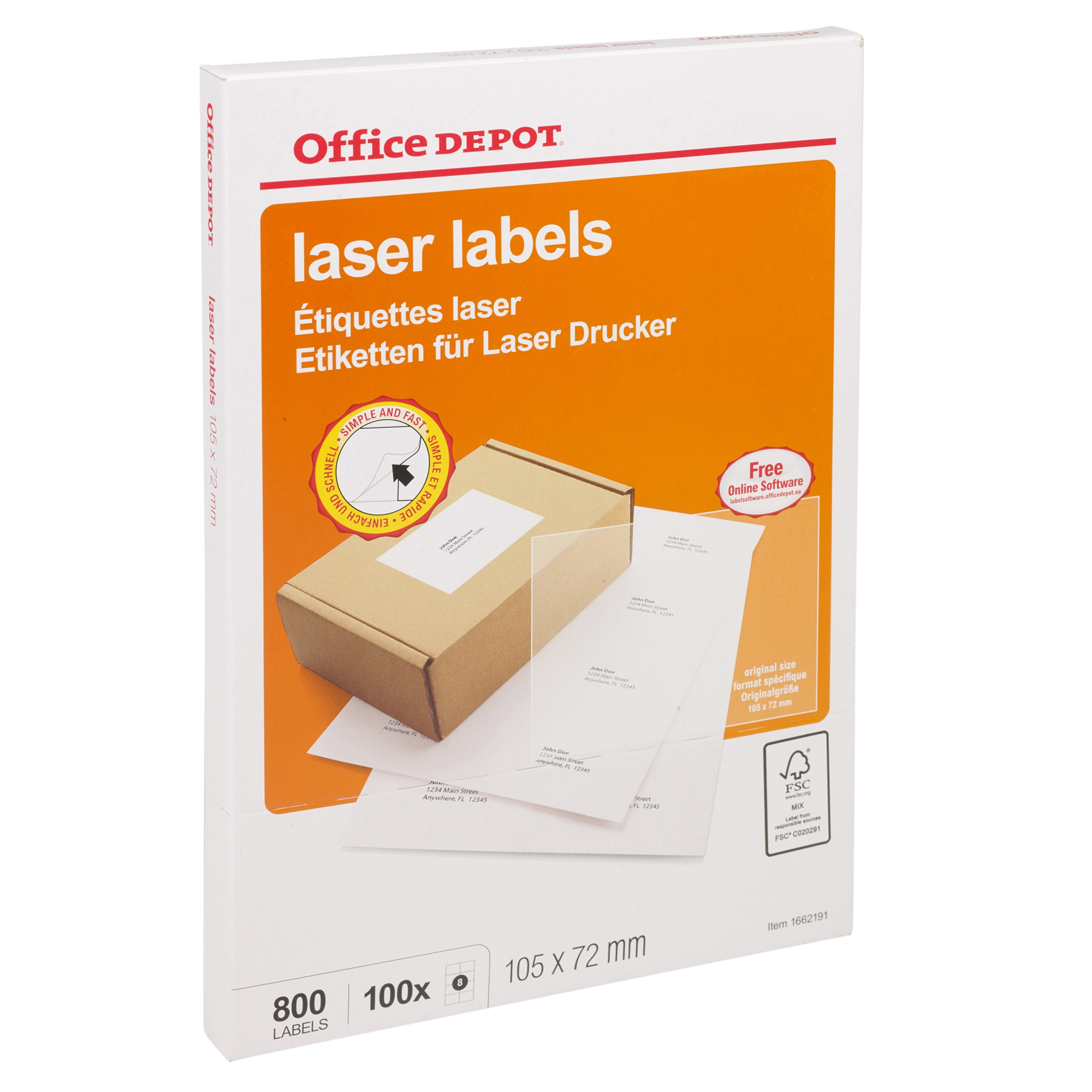 Office depot a4 self adhesive sticky address labels inkjet for Office depot shirt printing