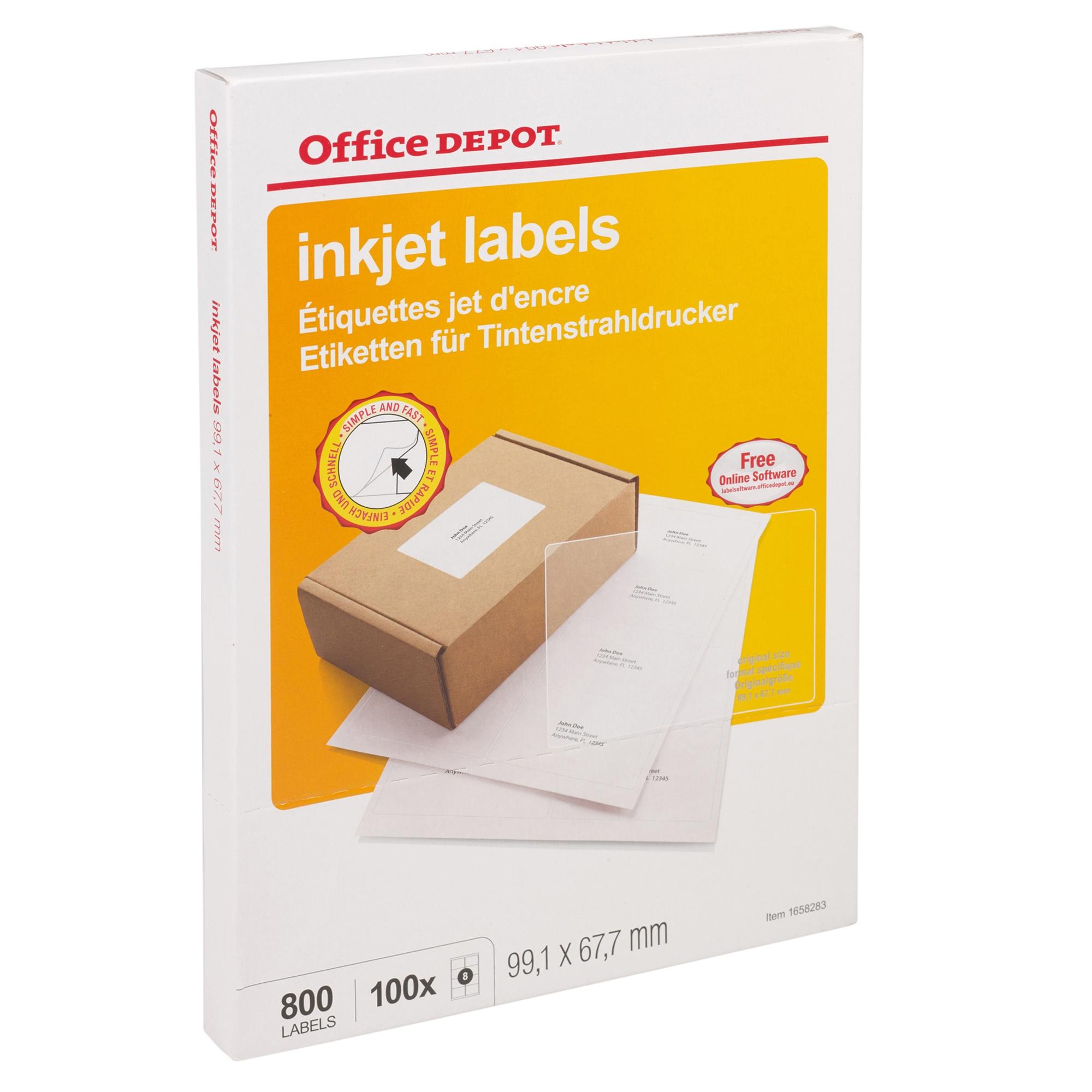 office depot self adhesive white sticky address labels for inkjet laser printer ebay. Black Bedroom Furniture Sets. Home Design Ideas