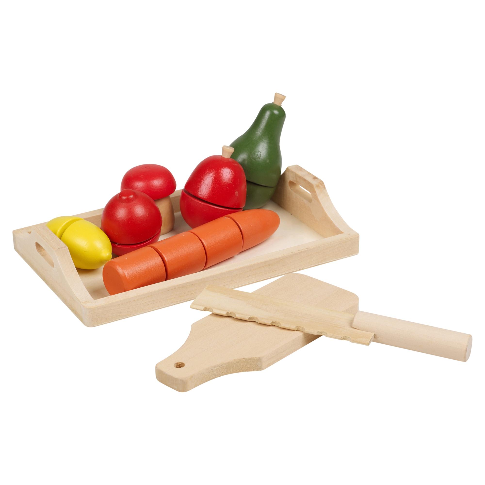 8 9 Piece Childrens Wooden Food Kitchen Pretend Play Fruit