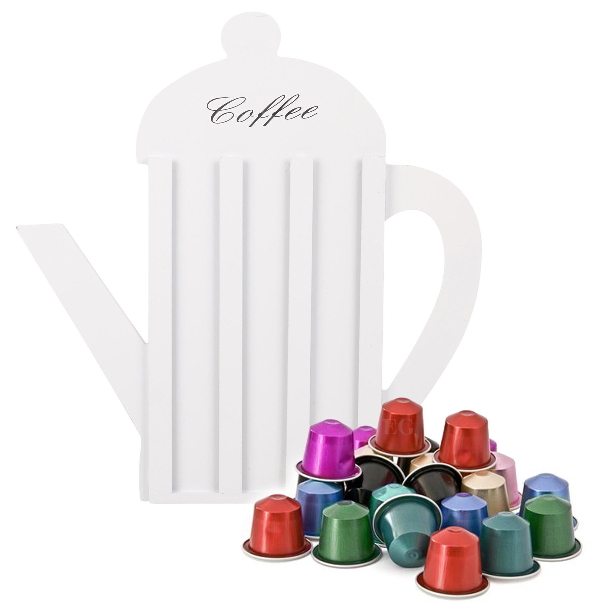 white wooden retro nespresso coffee capsule pod holder. Black Bedroom Furniture Sets. Home Design Ideas