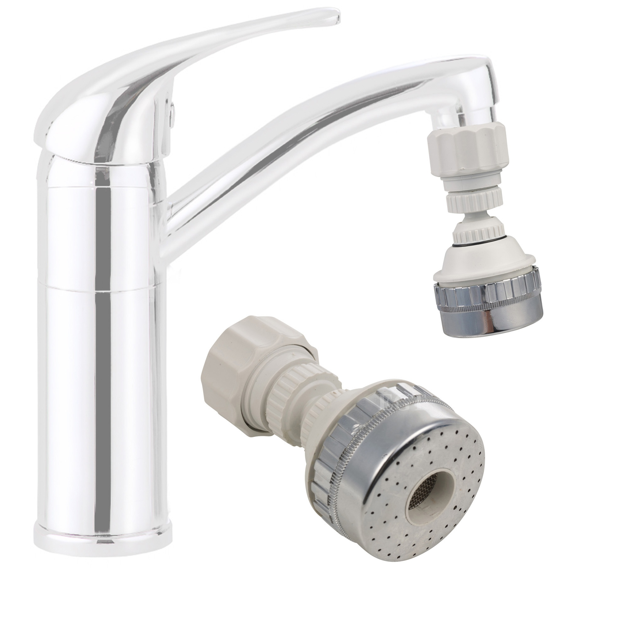 Kitchen Faucet Nozzle: Large Eco Water Saving Kitchen Tap Faucet Aerator 360