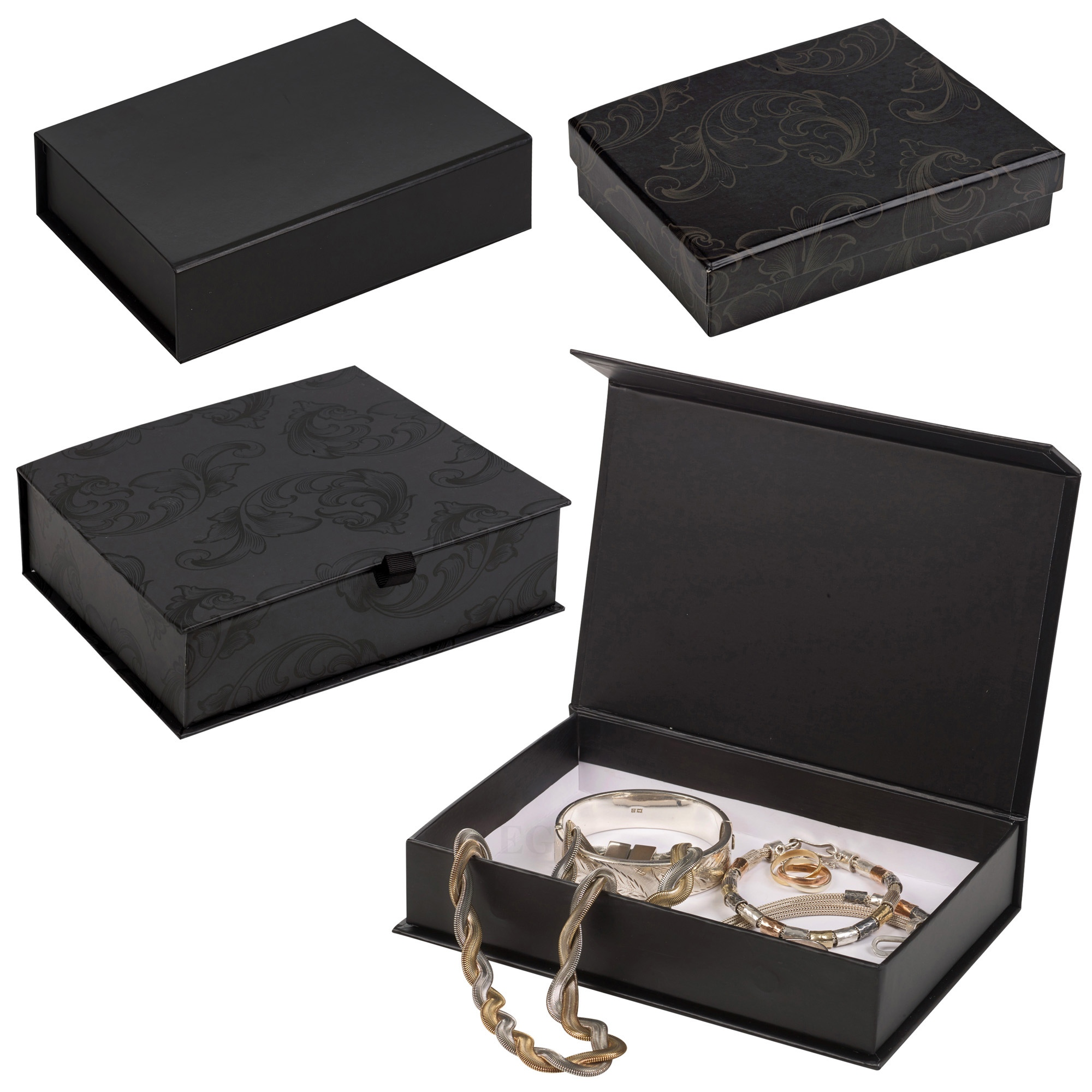 Details about 6 Large Luxury Gift Boxes Present Presentation Hinged or Removable Lid Jewellery  sc 1 st  eBay & 6 Large Luxury Gift Boxes Present Presentation Hinged or Removable ...