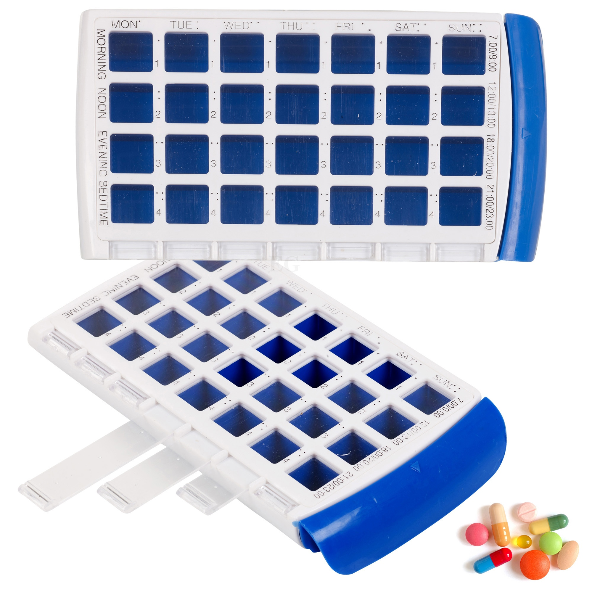 7 Day Pill Box Medicine Tablet Dispenser Organiser Weekly
