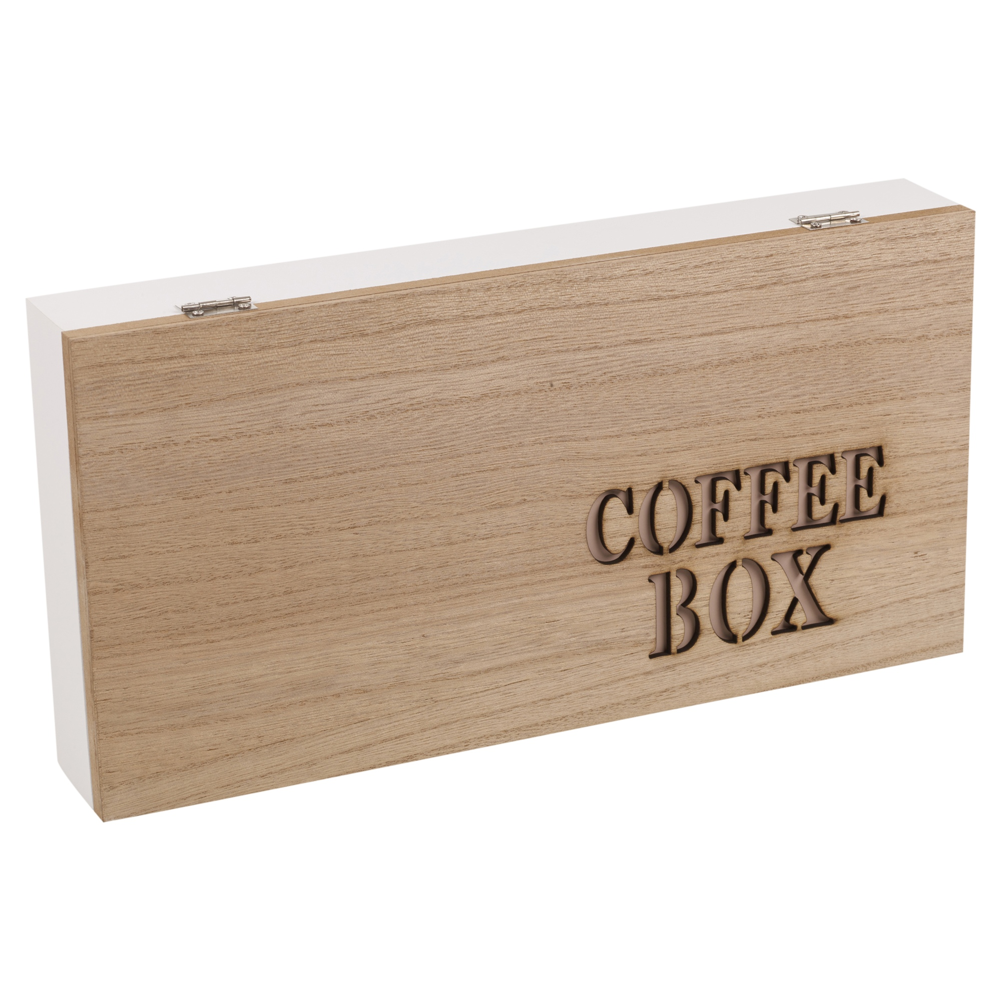 4 Section Wooden Coffee Capsule Pod Holder Box Kitchen