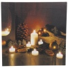 LED Flickering Candle Canvas [336096]