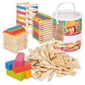 200pc Wooden Stacking Blocks [563879][390473]