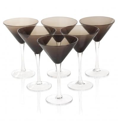Set of 6 Smokey Martini Glasses