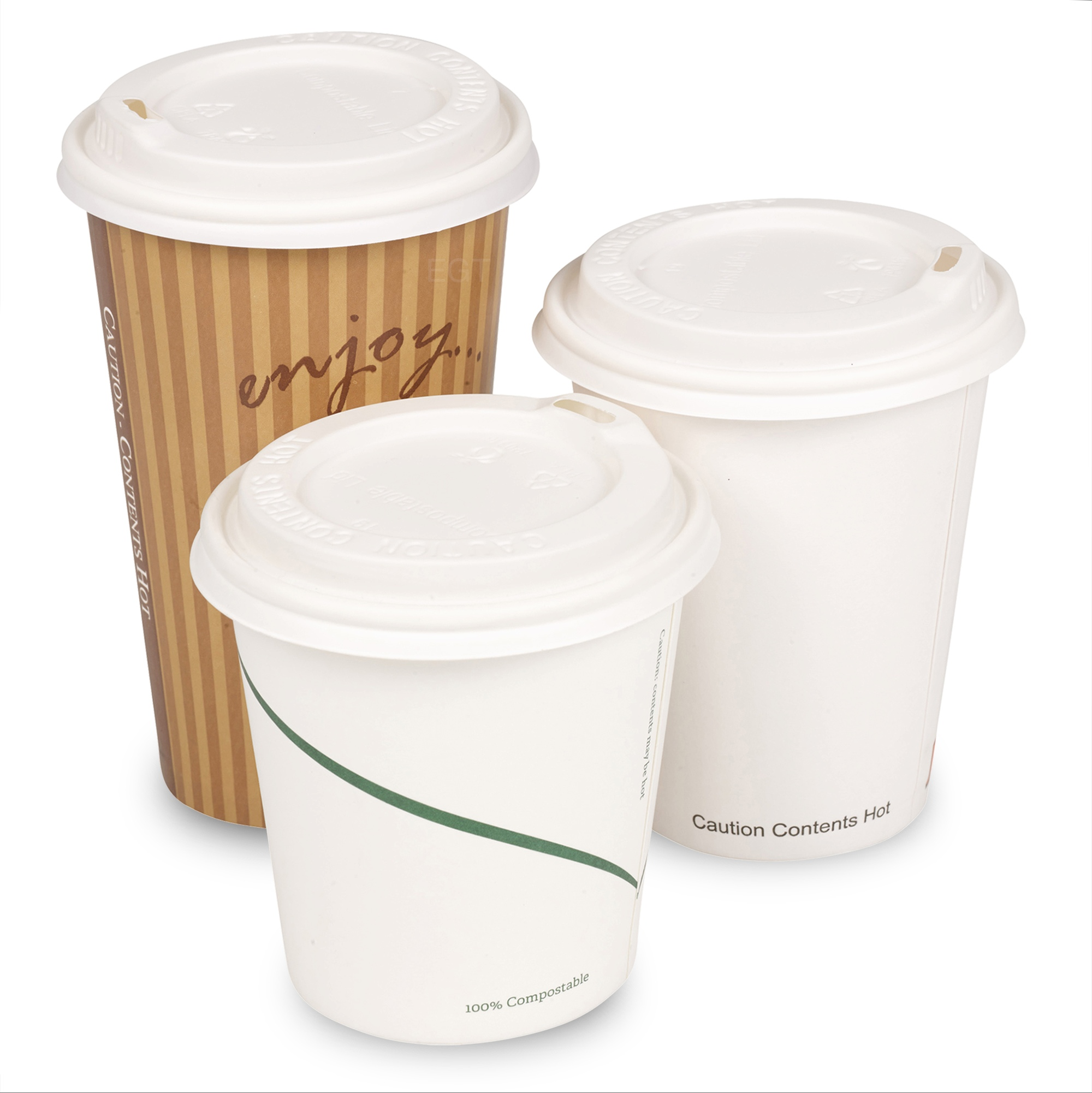 Safeware 10 oz [ 100 Cups] Togo Disposable White Paper Coffee Cups | Hot Beverages | Expresso | Tea | Coffee | Latte | Hot Chocolate Restaurant Grade