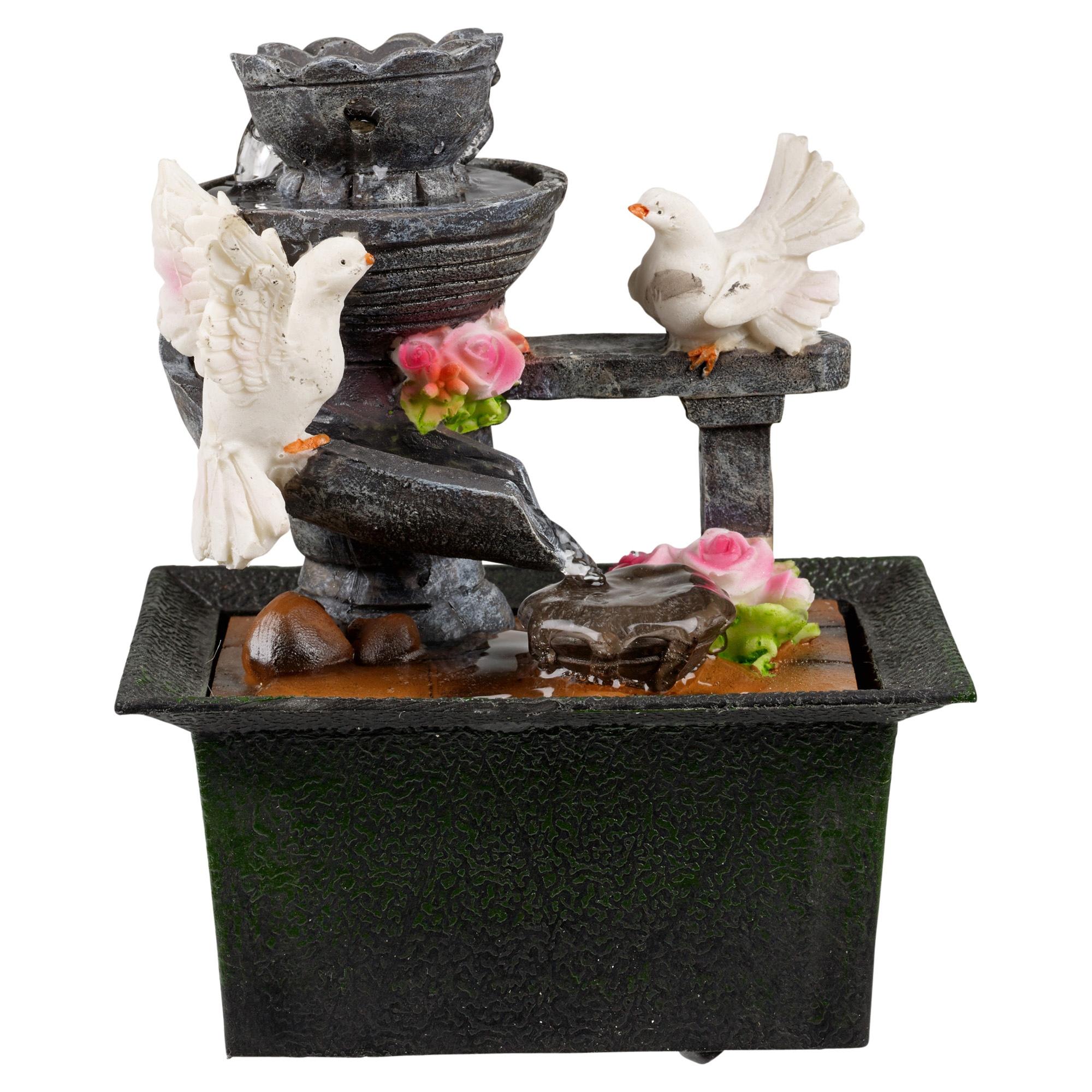 Waterfall Water Fountain Calming Feng Shui Effect Indoor
