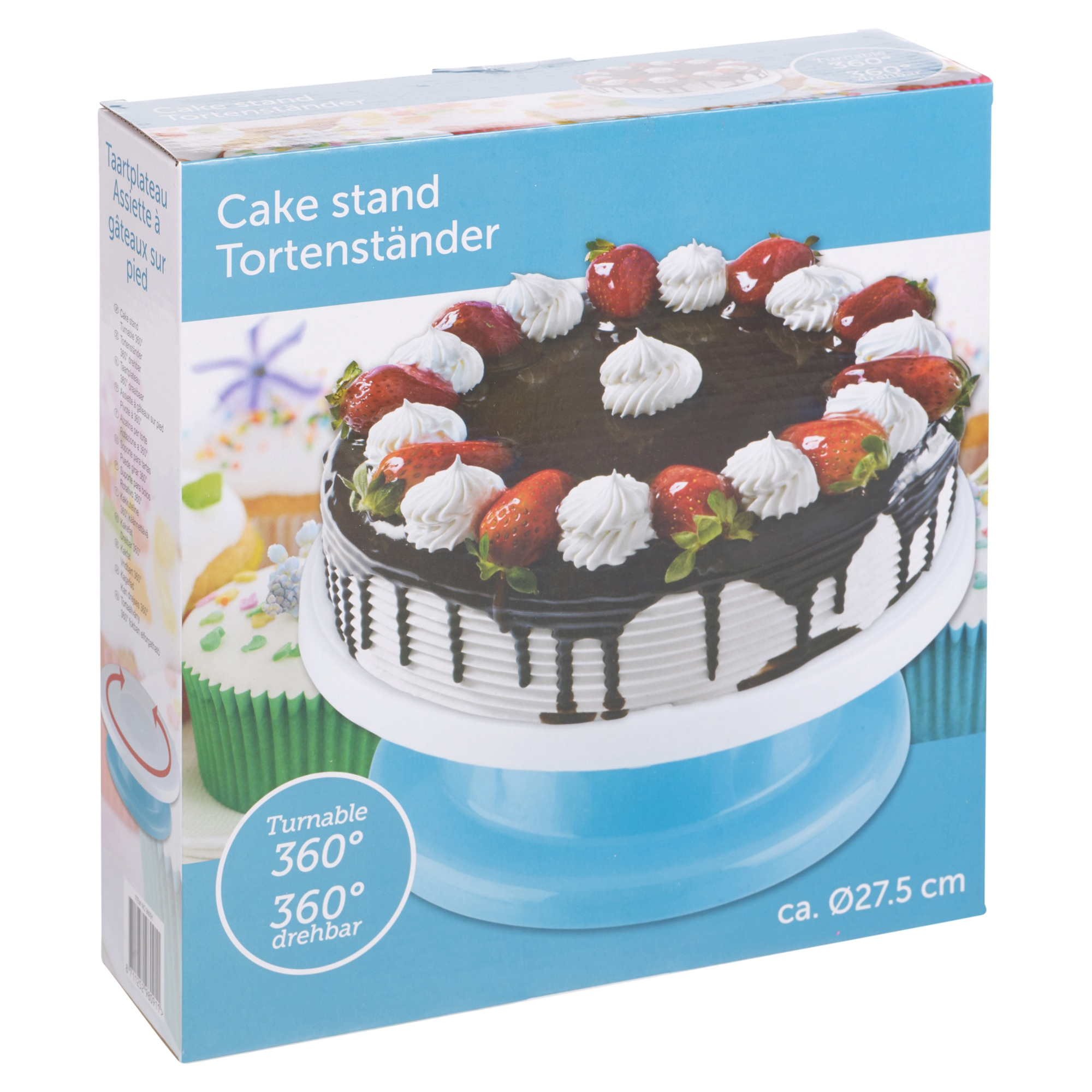 360? Cake Decorating Icing Rotating Turntable Plate Stand ...