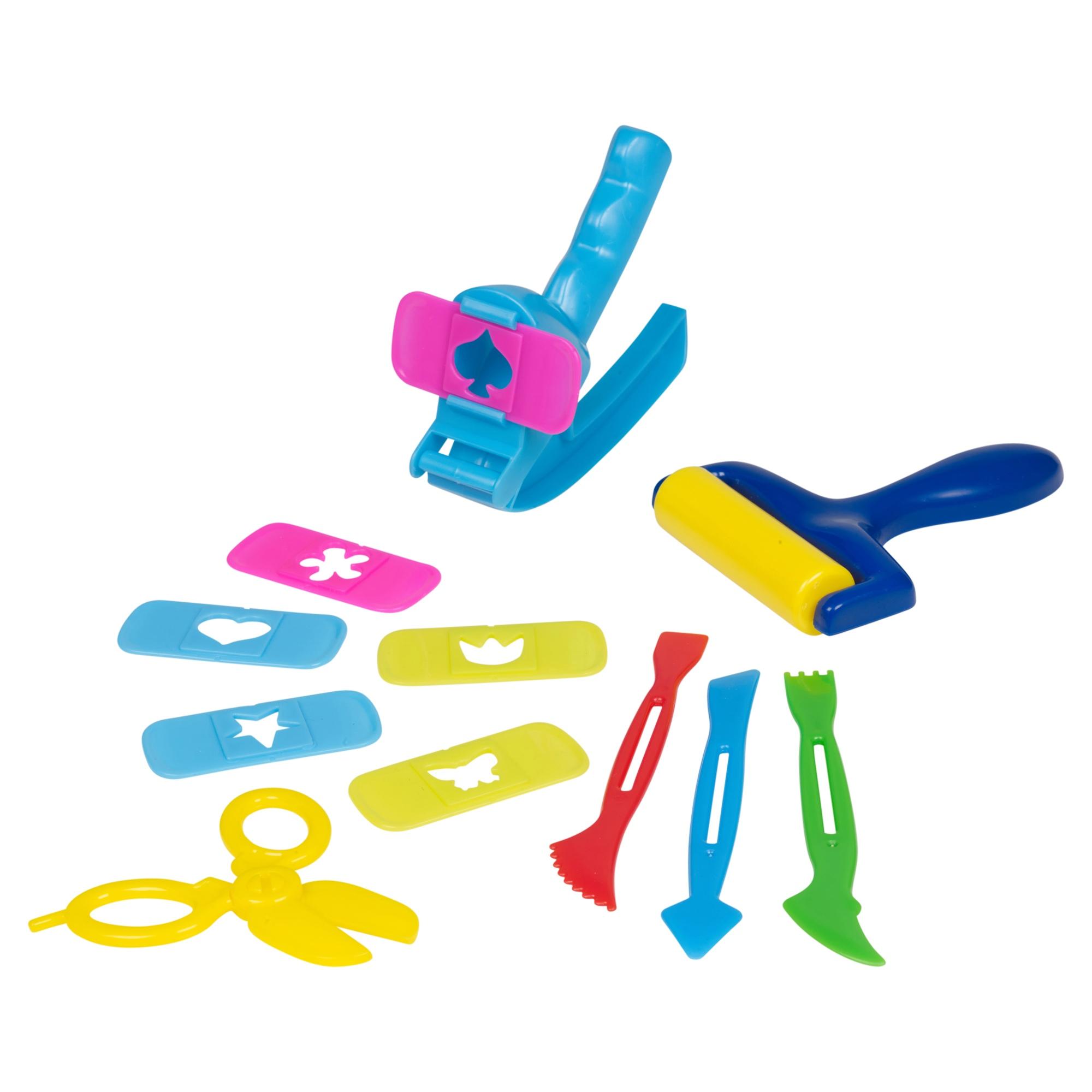 42 pc alphabet cutter play dough set kids toys activity for Playdough letter cutters