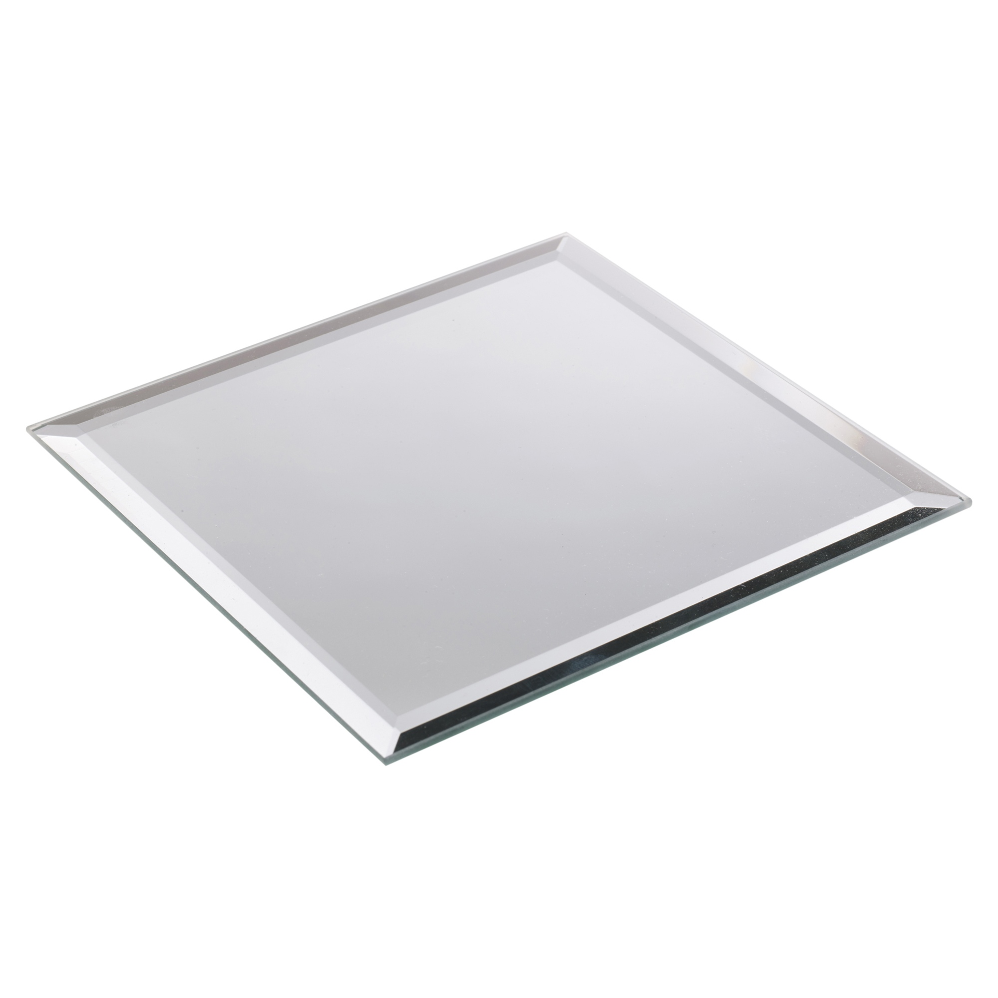 From £1.49  sc 1 st  eBay & Round Square Mirror Candle Plate Cake Stand Wedding Table Bevel Edge ...