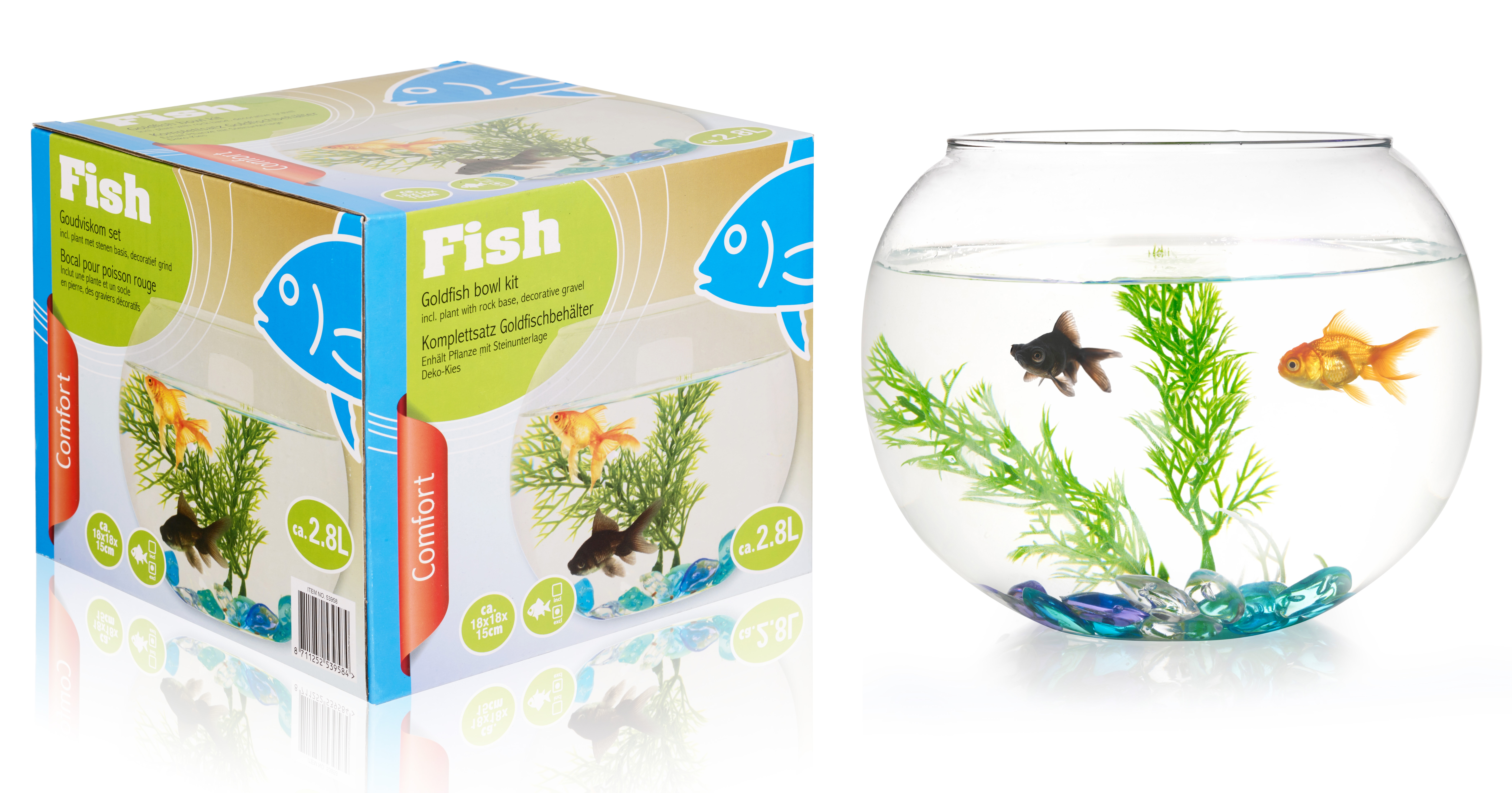2 8ltr fish bowl accessories starter aquarium goldfish for Aquarium decoration for goldfish