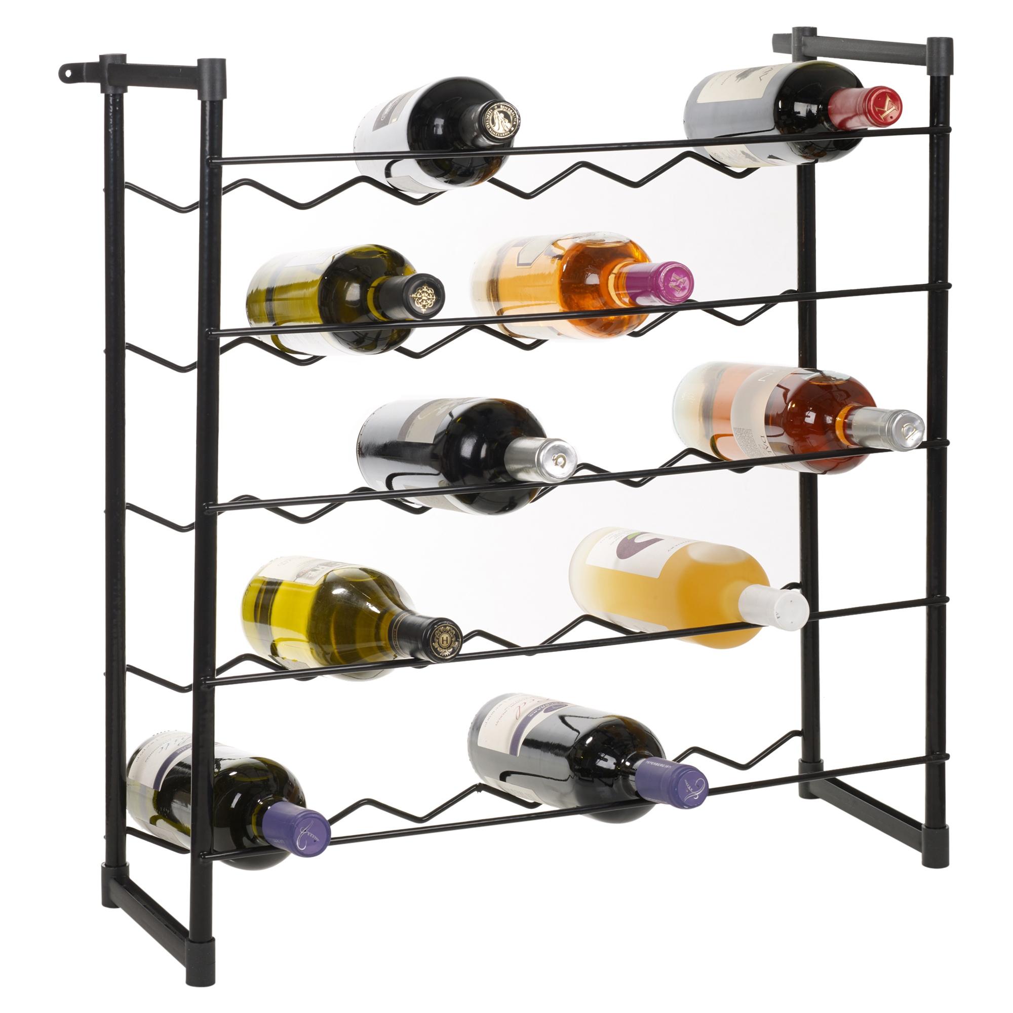 stapelbar weinregal 30 60 flaschen champagner bar zubeh r metall freistehend ebay. Black Bedroom Furniture Sets. Home Design Ideas