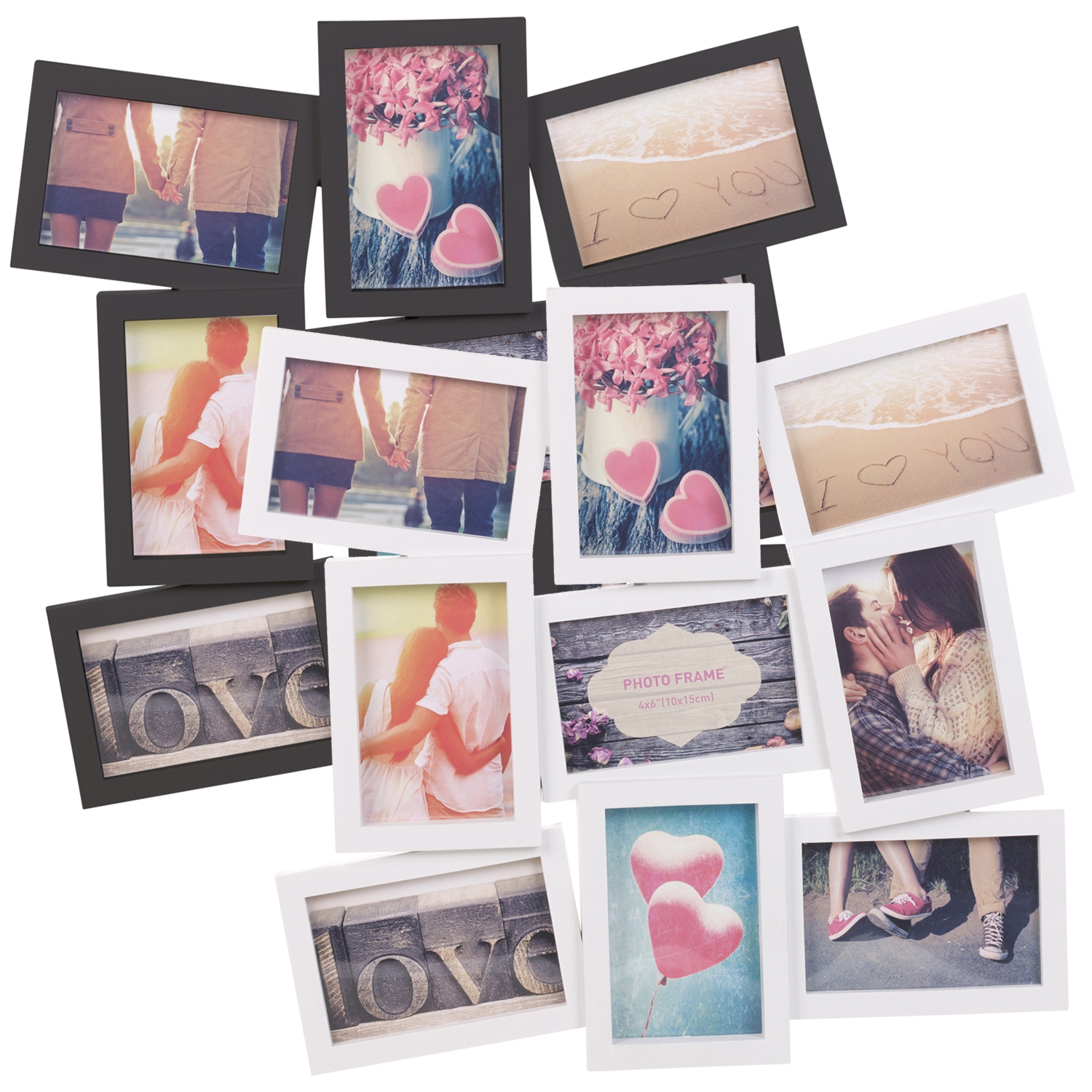8 9 12 16 18 24 photos large multi picture frame collage aperture decor memories ebay. Black Bedroom Furniture Sets. Home Design Ideas