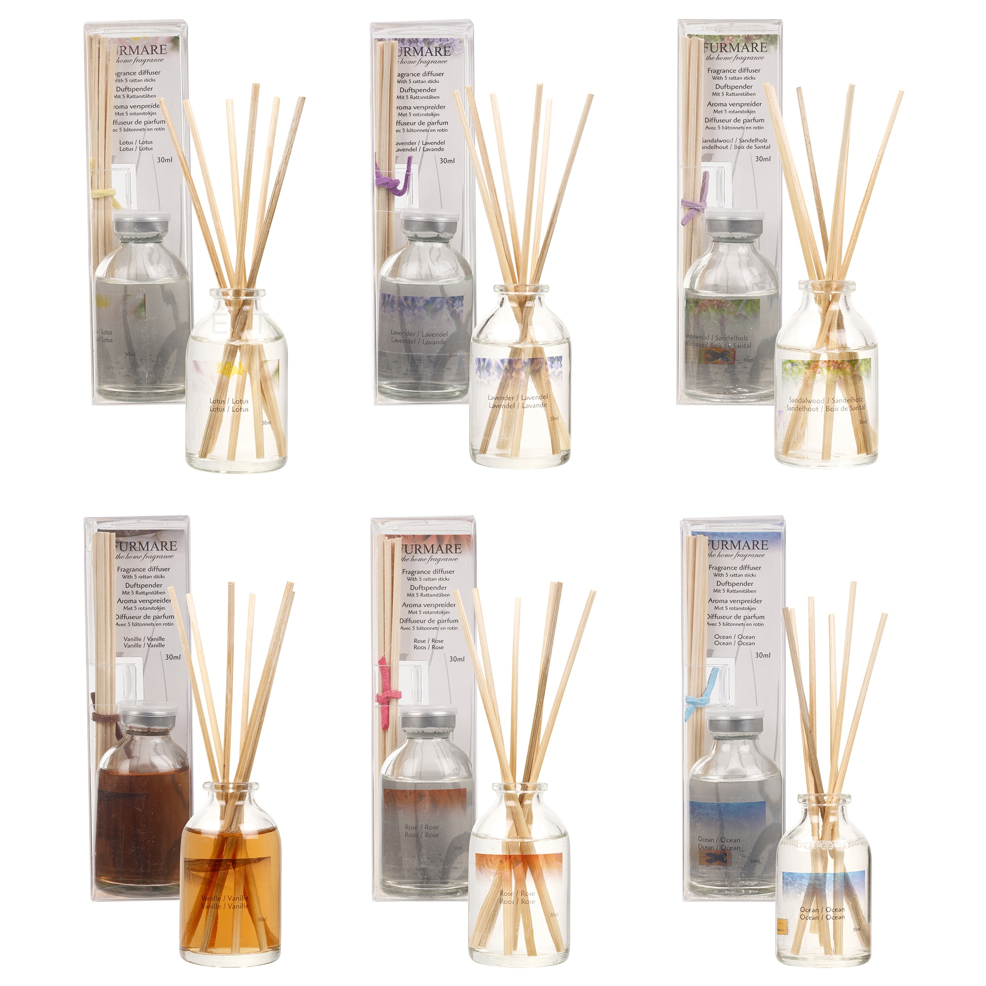 Home fragrance air freshener reed diffuser 30ml aromatic for Long lasting home fragrance
