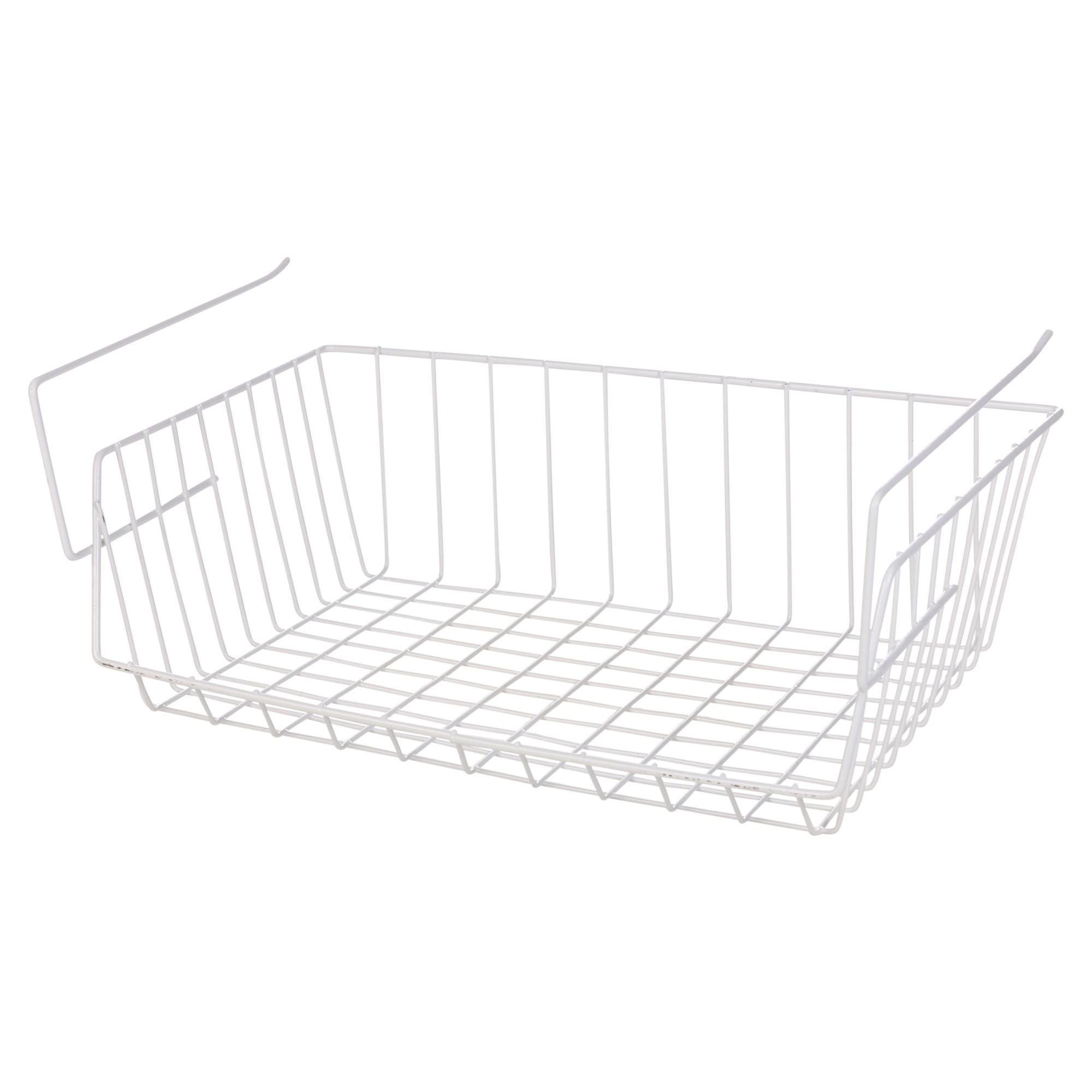 white under shelf table storage basket rack kitchen wire. Black Bedroom Furniture Sets. Home Design Ideas