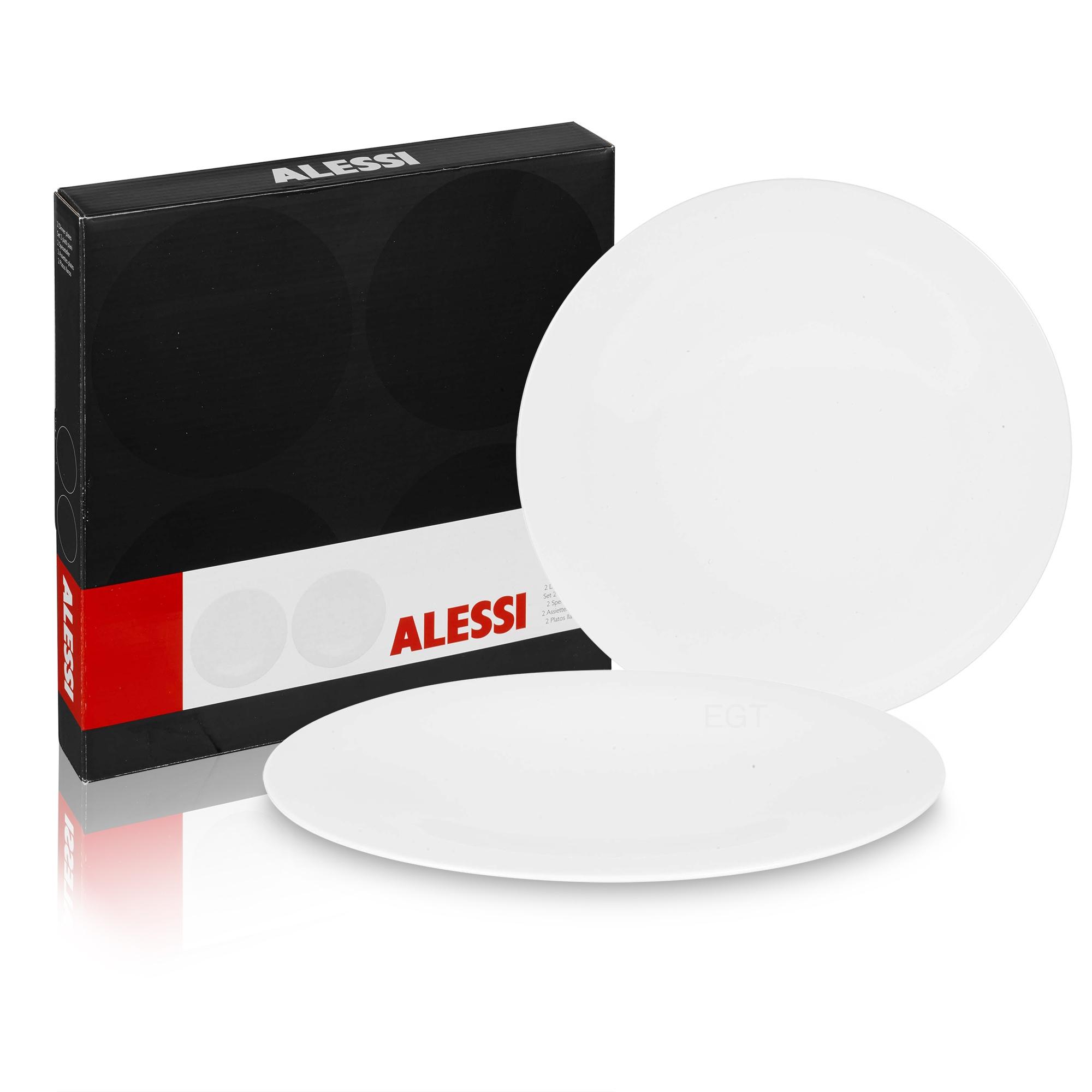 Alessi KU Set of 6 Modern Porcelain Design Dinner Plates Tableware ...