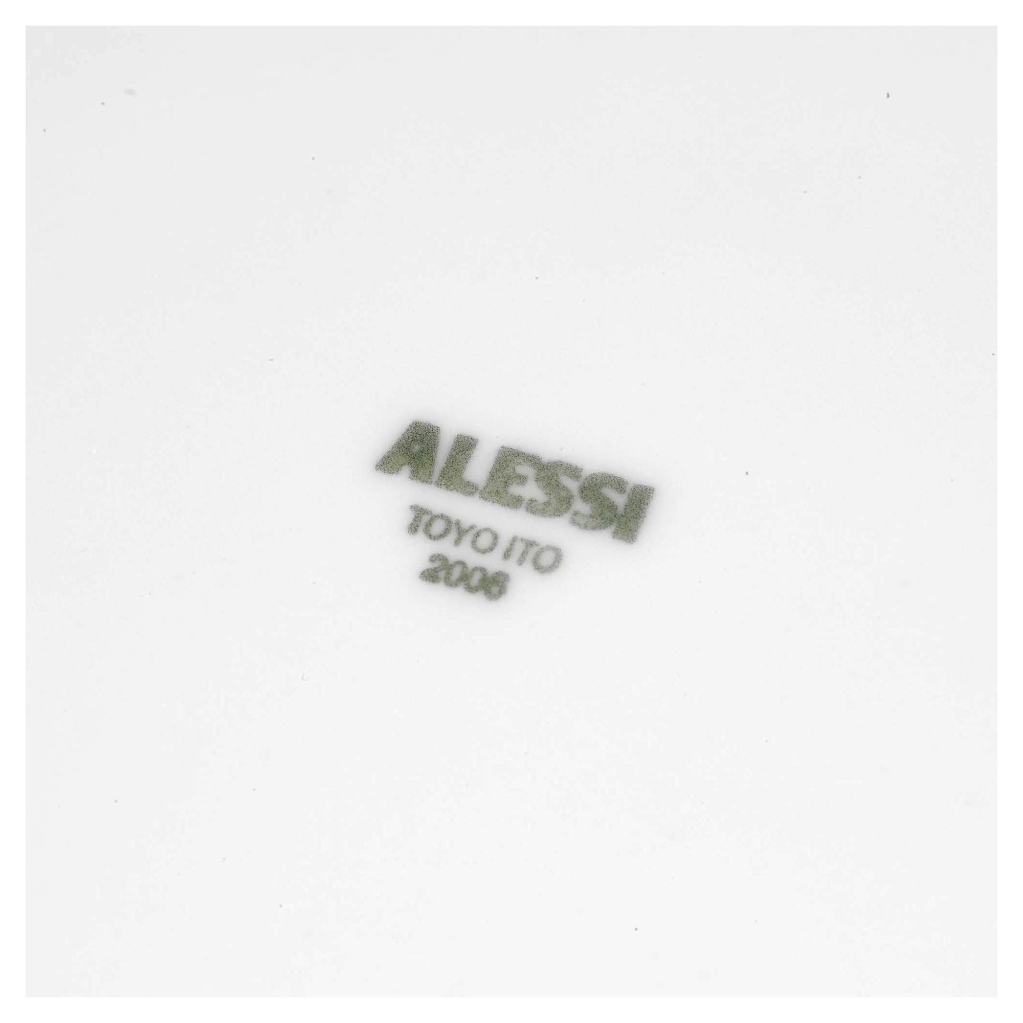 ALESSI KU Dinner Plates [264649]. RRP £42 & Alessi KU Set of 6 Modern Porcelain Design Dinner Plates Tableware ...