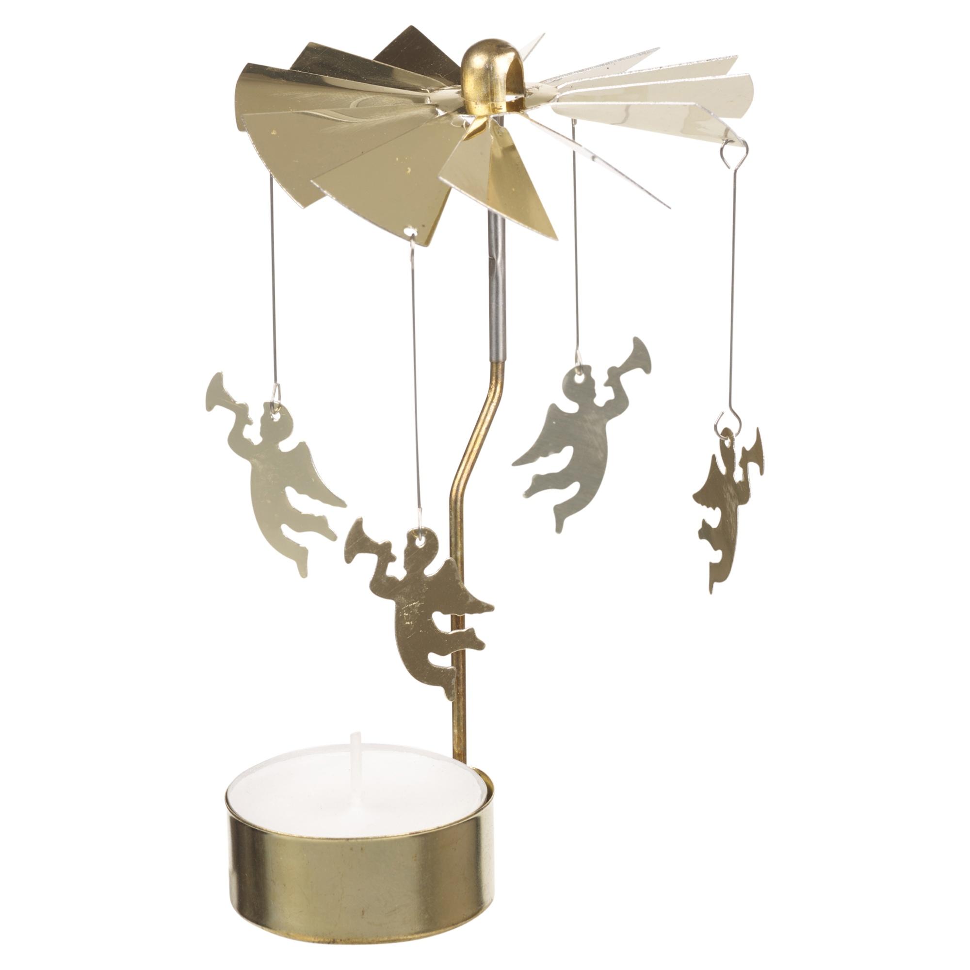 Tealight Carousel Rotary Tea Light Holder Christmas Gift Charms Spinning Candle Ebay