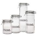 Glass Storage Jar with Clamp Lid
