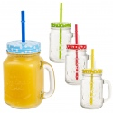 Juice Jar With Handle And Straw [826627]