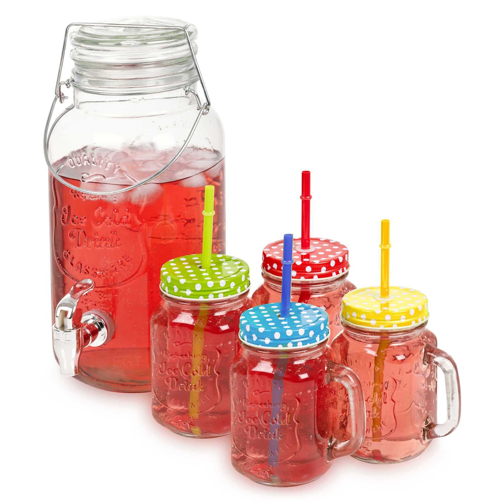 Litre Glass Jar With Tap