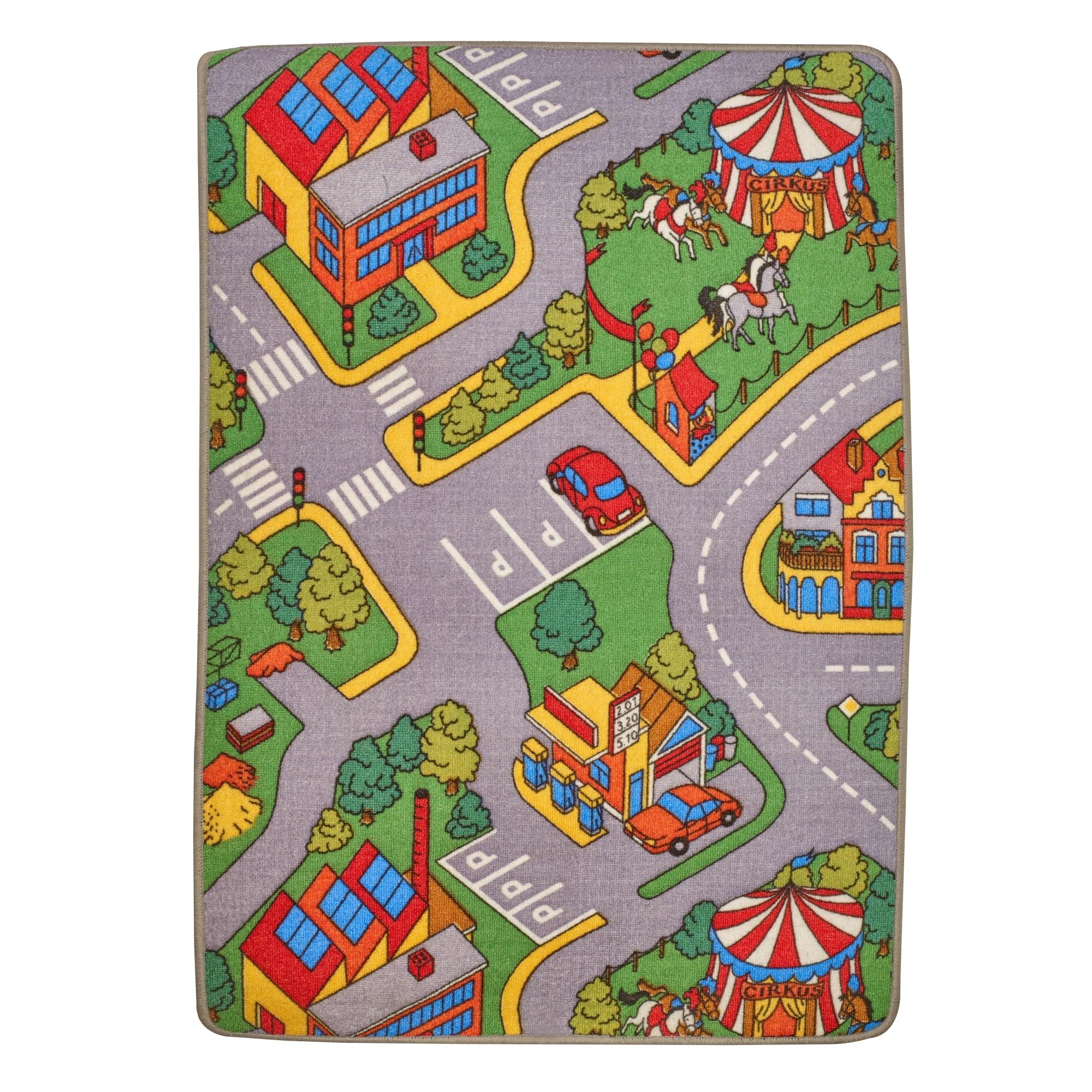 Large Kids Car Play Mat 120 X 80cm Town Village Children's