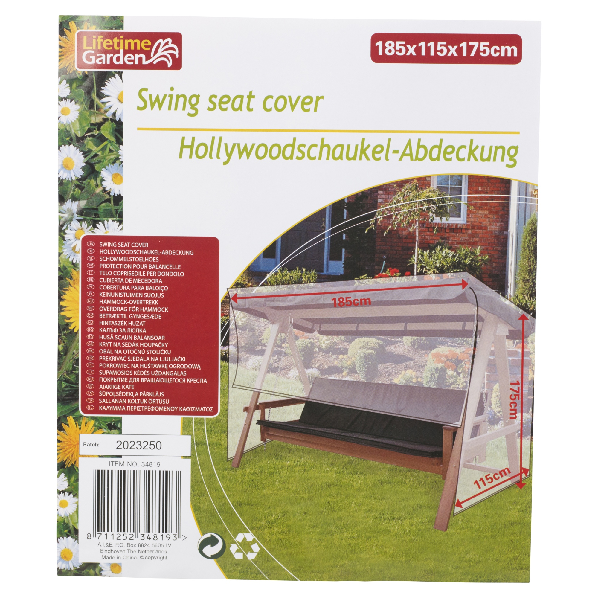 Large Waterproof Garden Furniture Swing Bench Chair Cover
