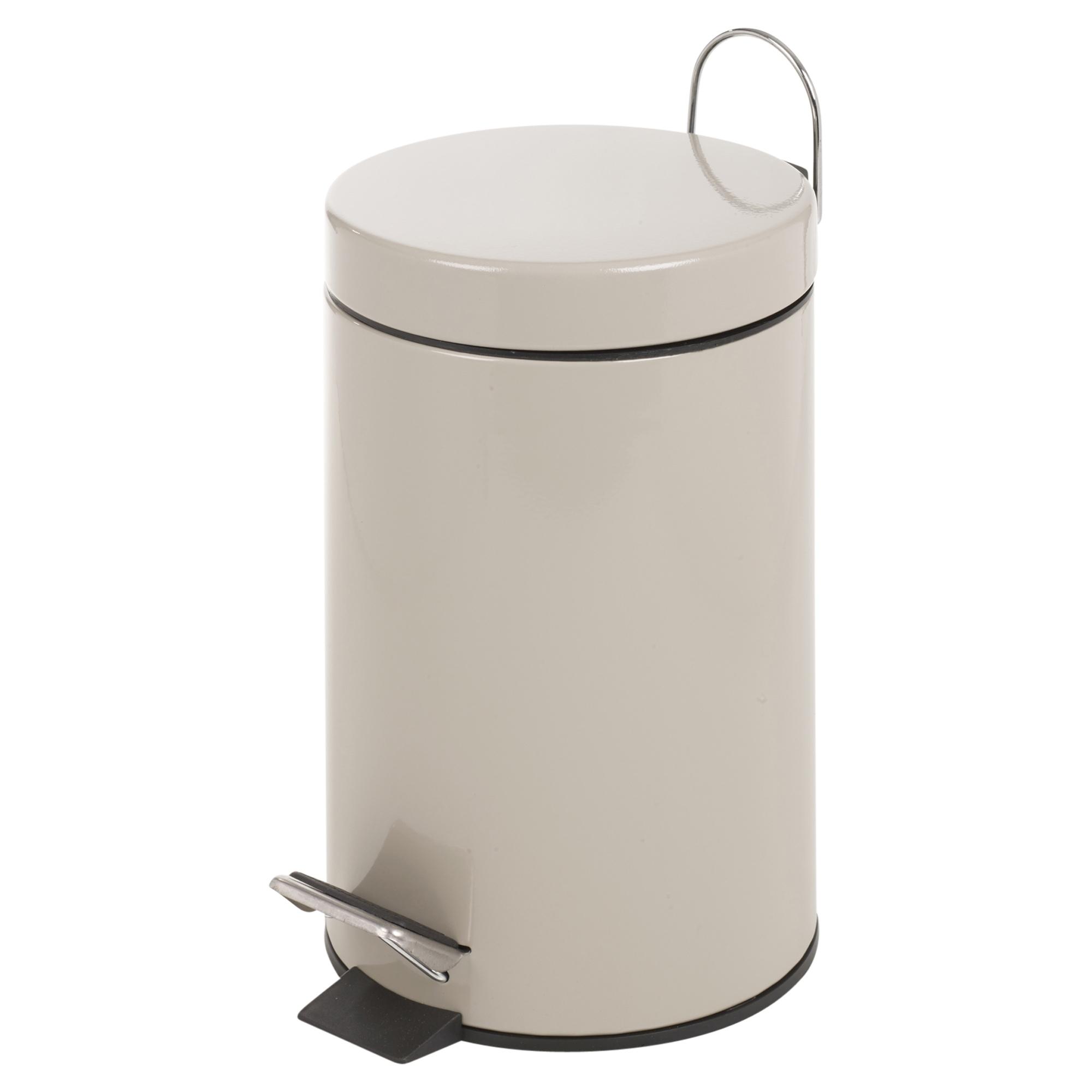 Matching 3l toilet bin brush holder set bathroom pedal for Bathroom bin set