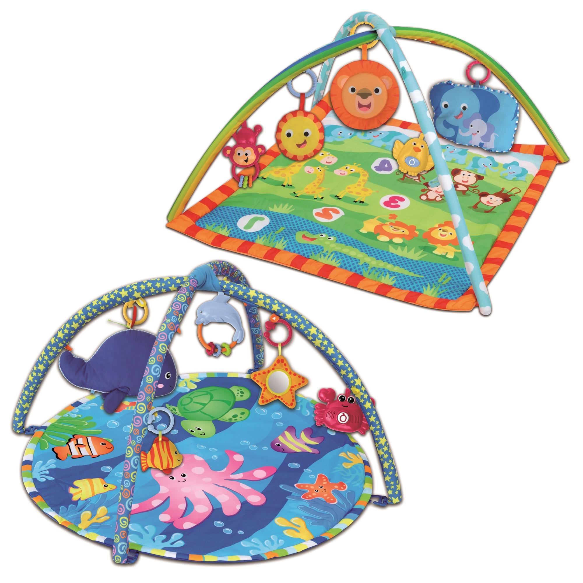 Bontempi Square Jungle Play Mat Musical Sound Baby Soft