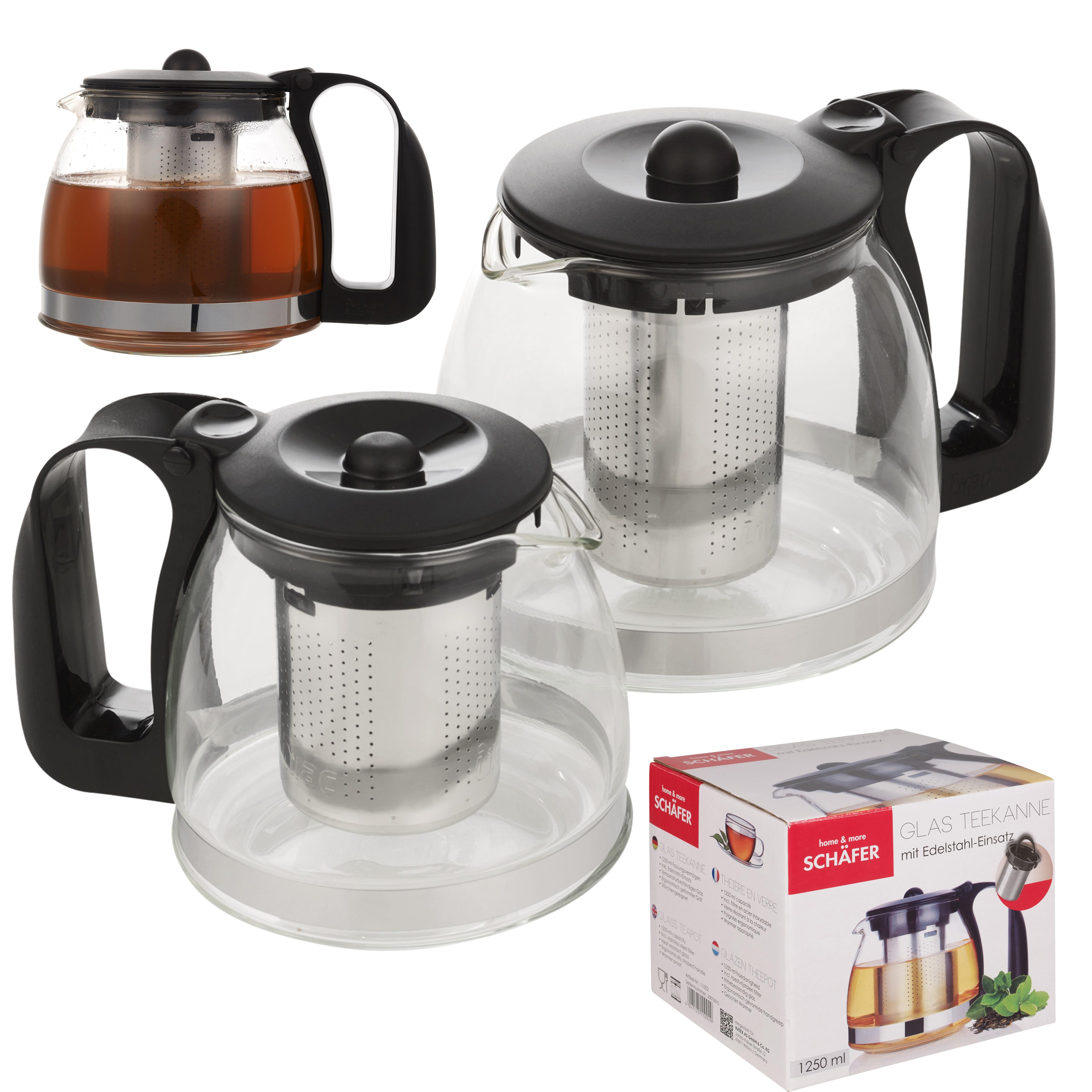 Schäfer glass tea pot borosilicate heat resistant jug