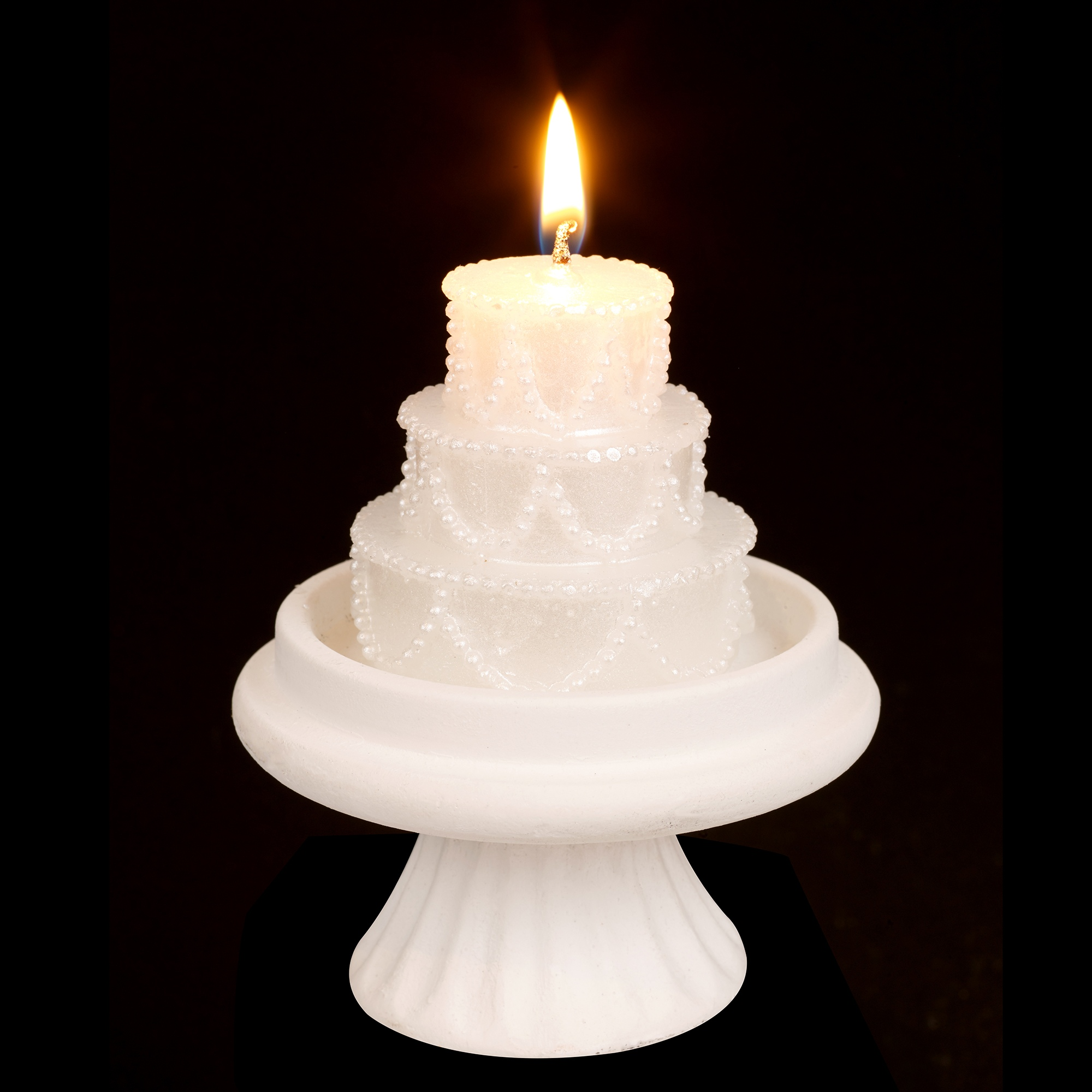 wedding cake shaped candles luxury white tiered wedding cake candle topper on stand 24474