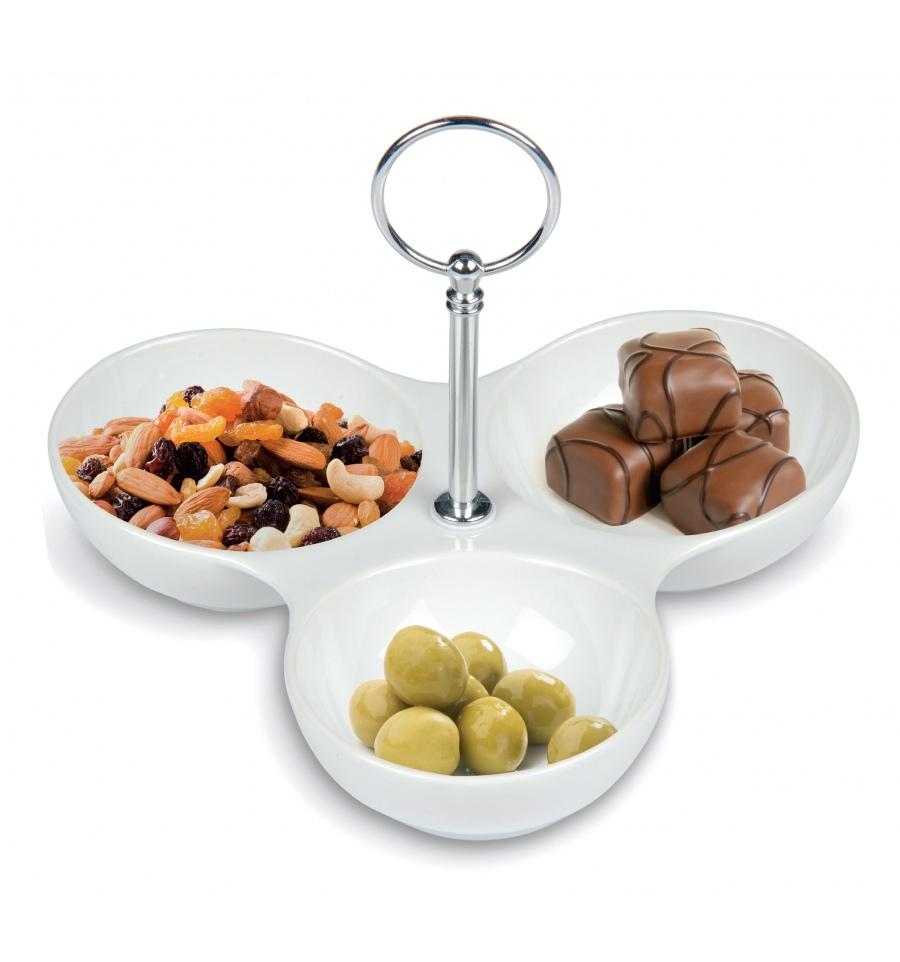 Tish Ceramic Serving Dish 3 Sections 799278