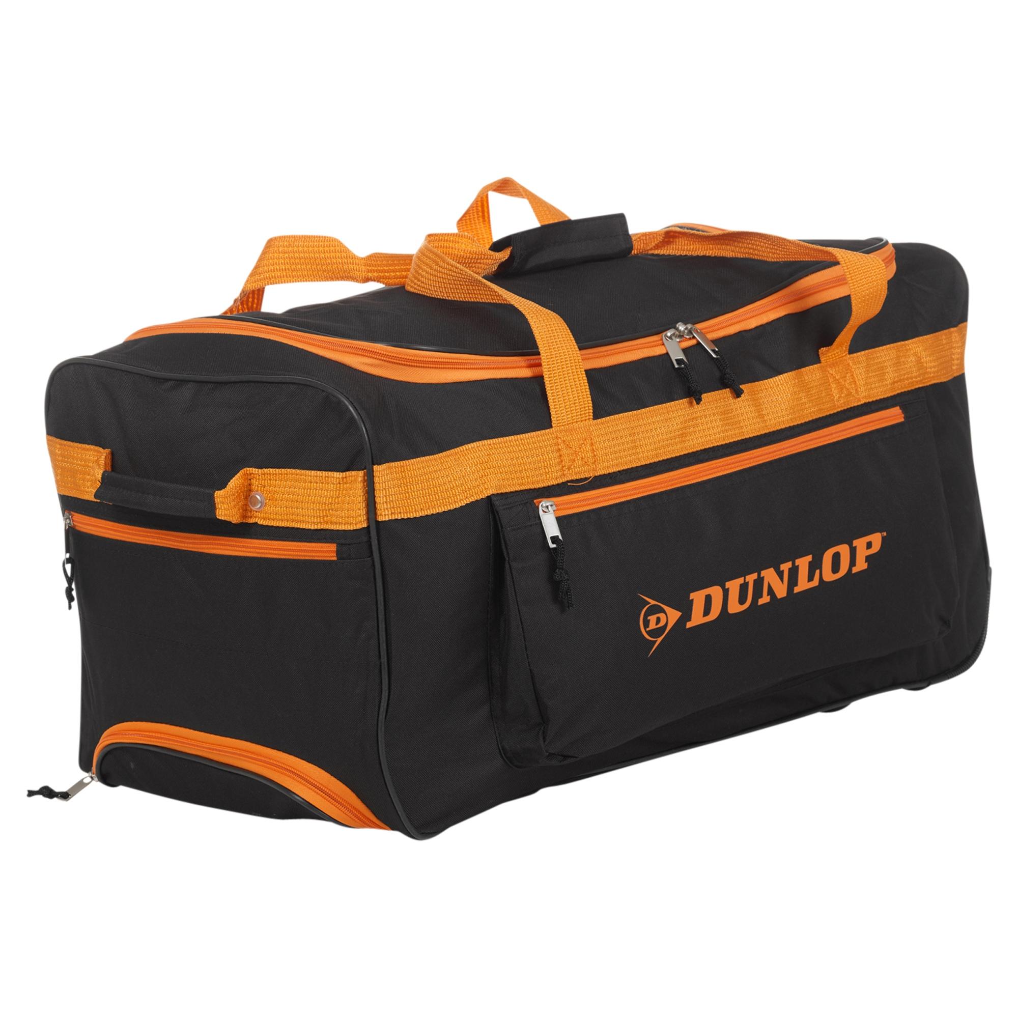dunlop sports travel bag trolley handle wheels luggage carry gym lightweight new ebay. Black Bedroom Furniture Sets. Home Design Ideas