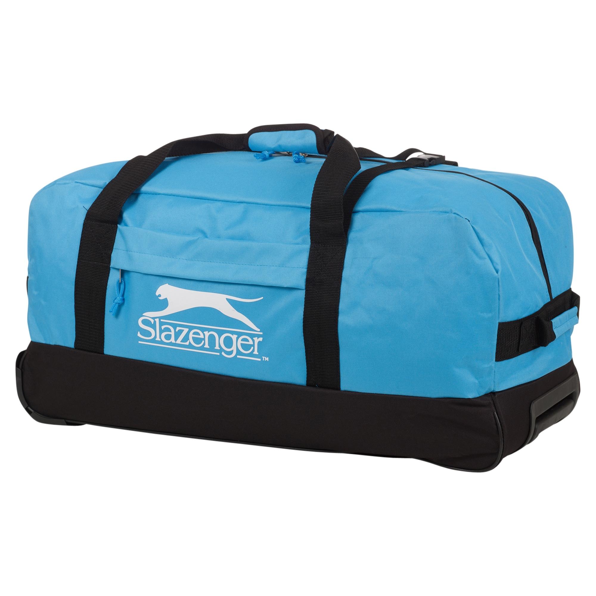 Slazenger Trolley Sports Travel Bag Handle Wheels Luggage Carry