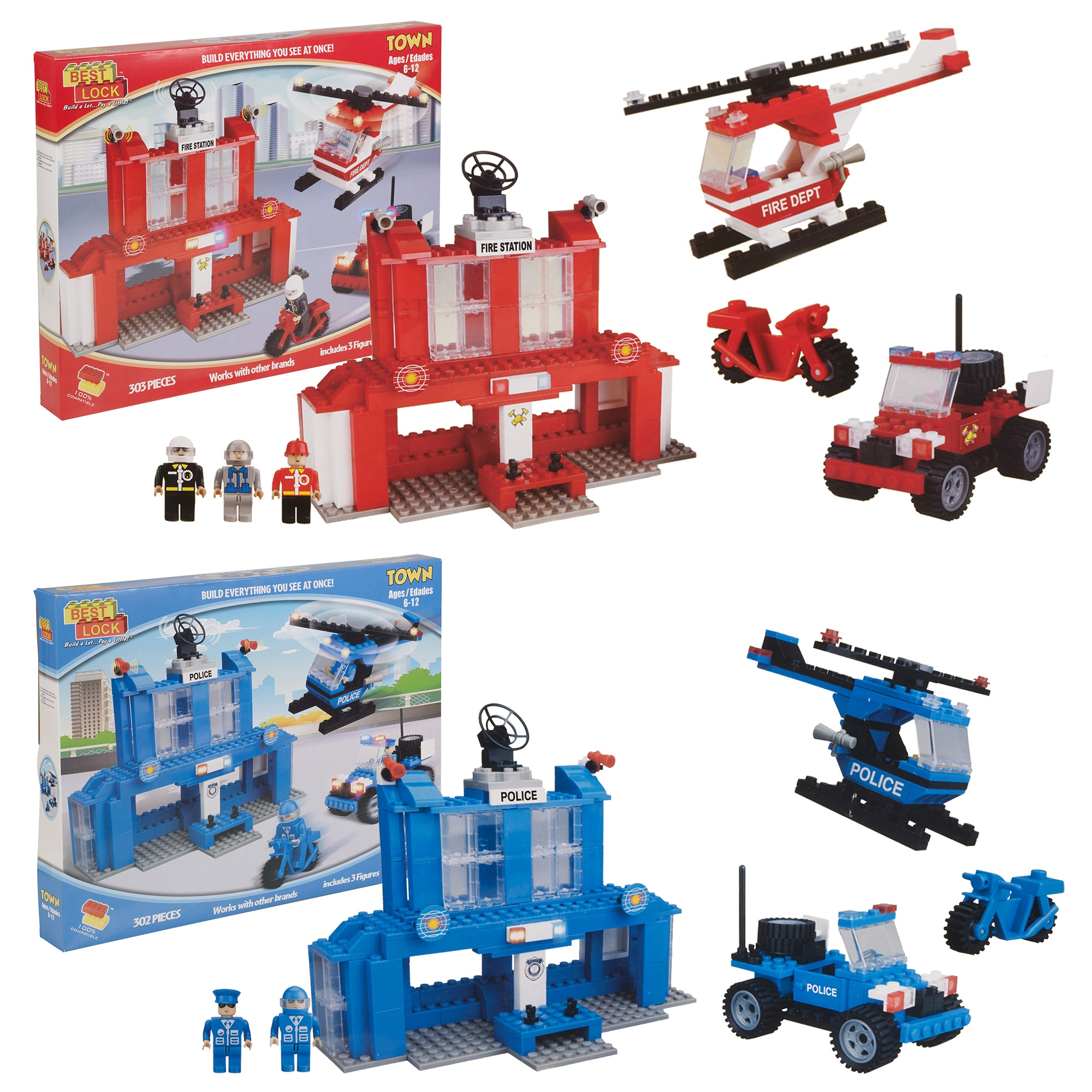 Best Lock 300pc DIY Construction Set Bricks Toy Kids ...