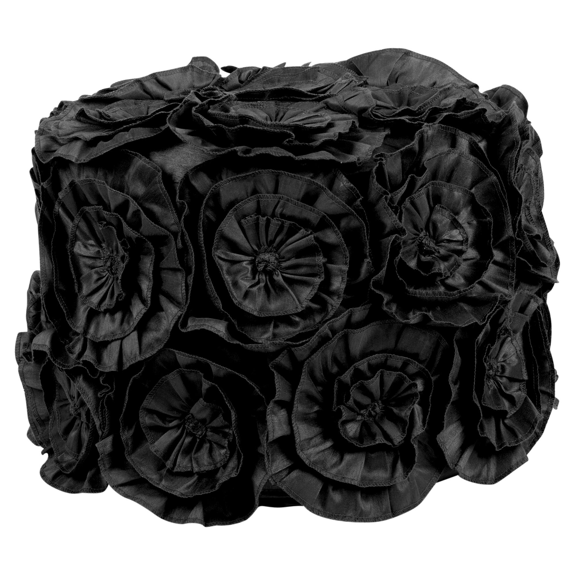 grand 40cm gros rond pouf si ge doux repos marocain pouf echelle tabouret ebay. Black Bedroom Furniture Sets. Home Design Ideas