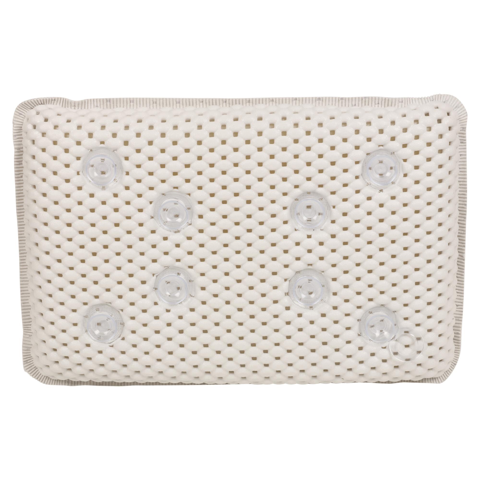 Luxury White Foam Bath Pillow Spongy Cushion Spa Tub Head