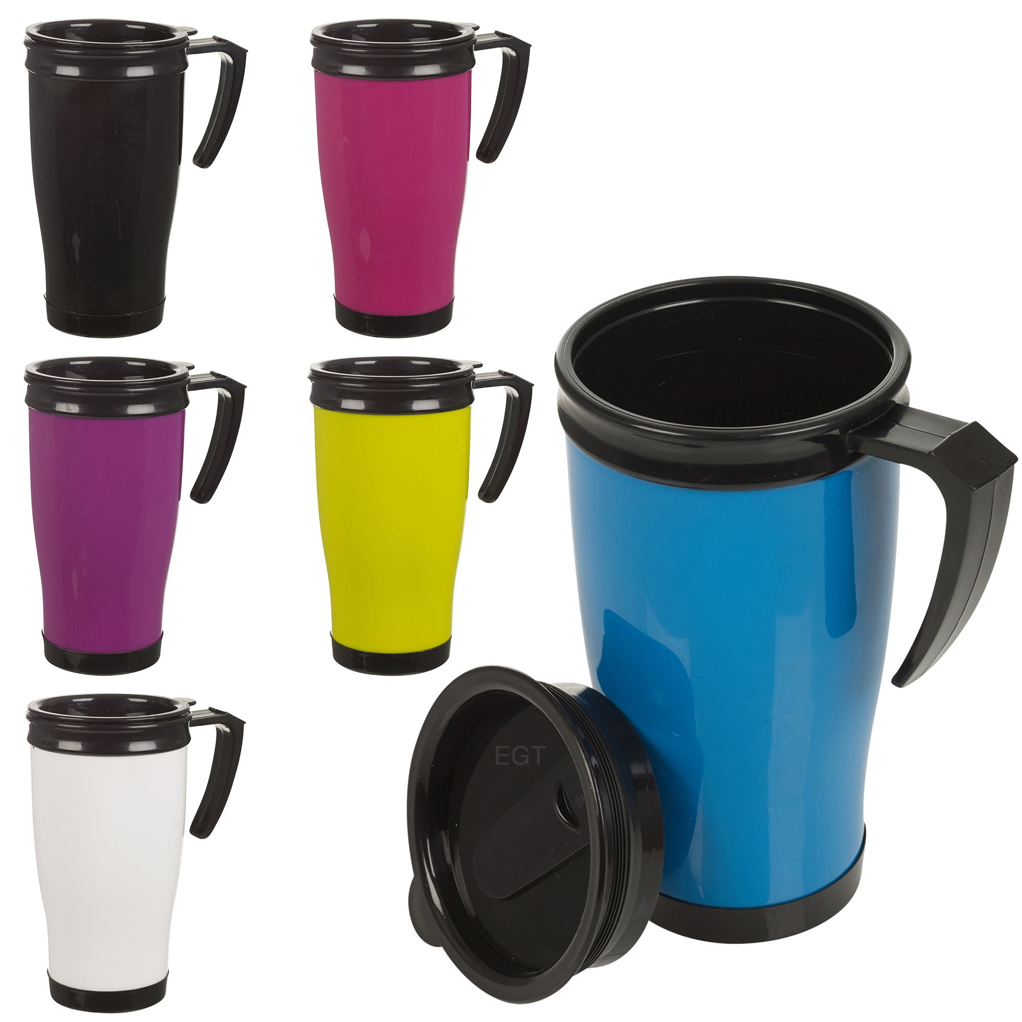 Insulated Double Wall Non Spill Travel Mug With Lid Easy ...
