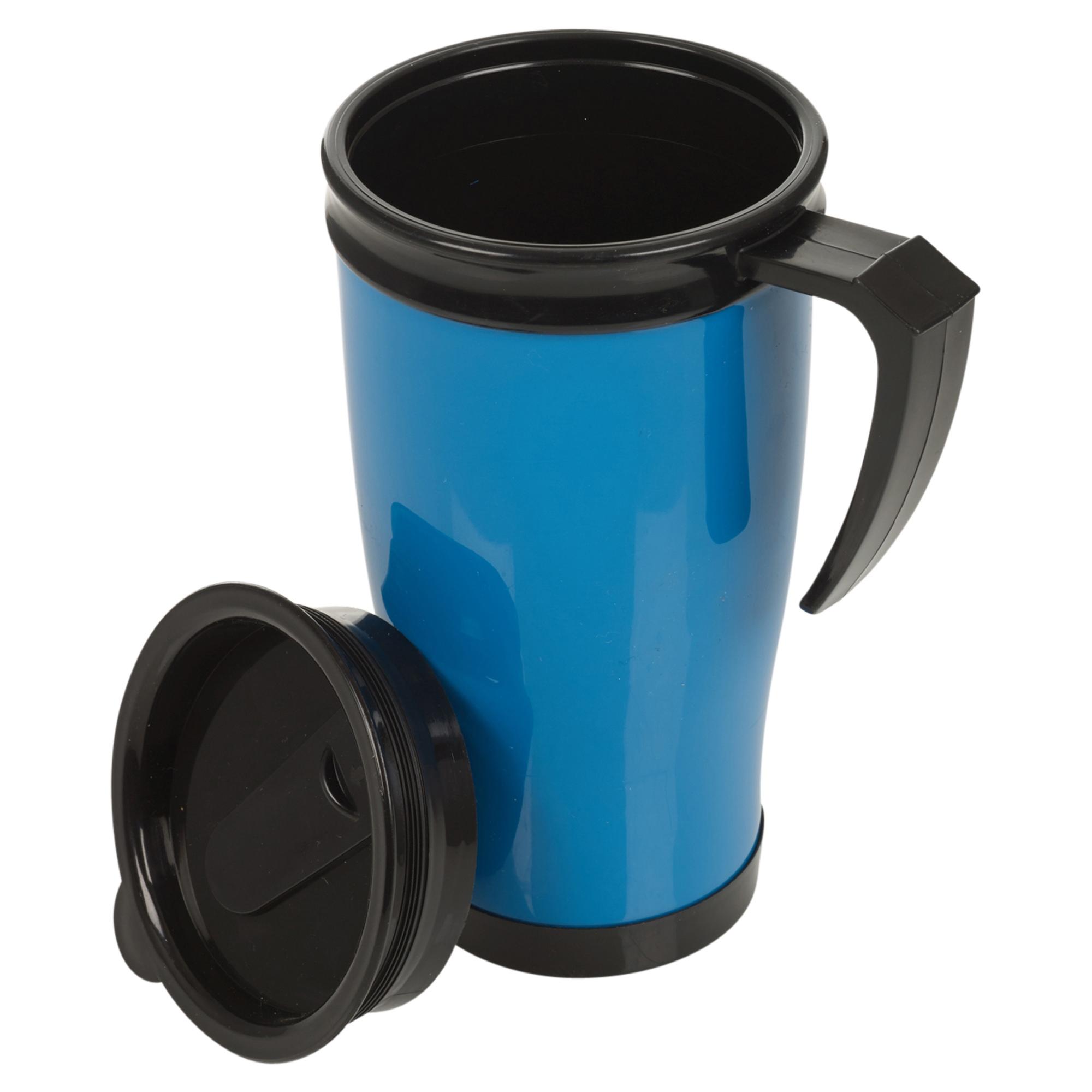 Isotherme double paroi Non déversement Tasse de voyage avec couvercle Easy Grip Café Thé Chaud Cup