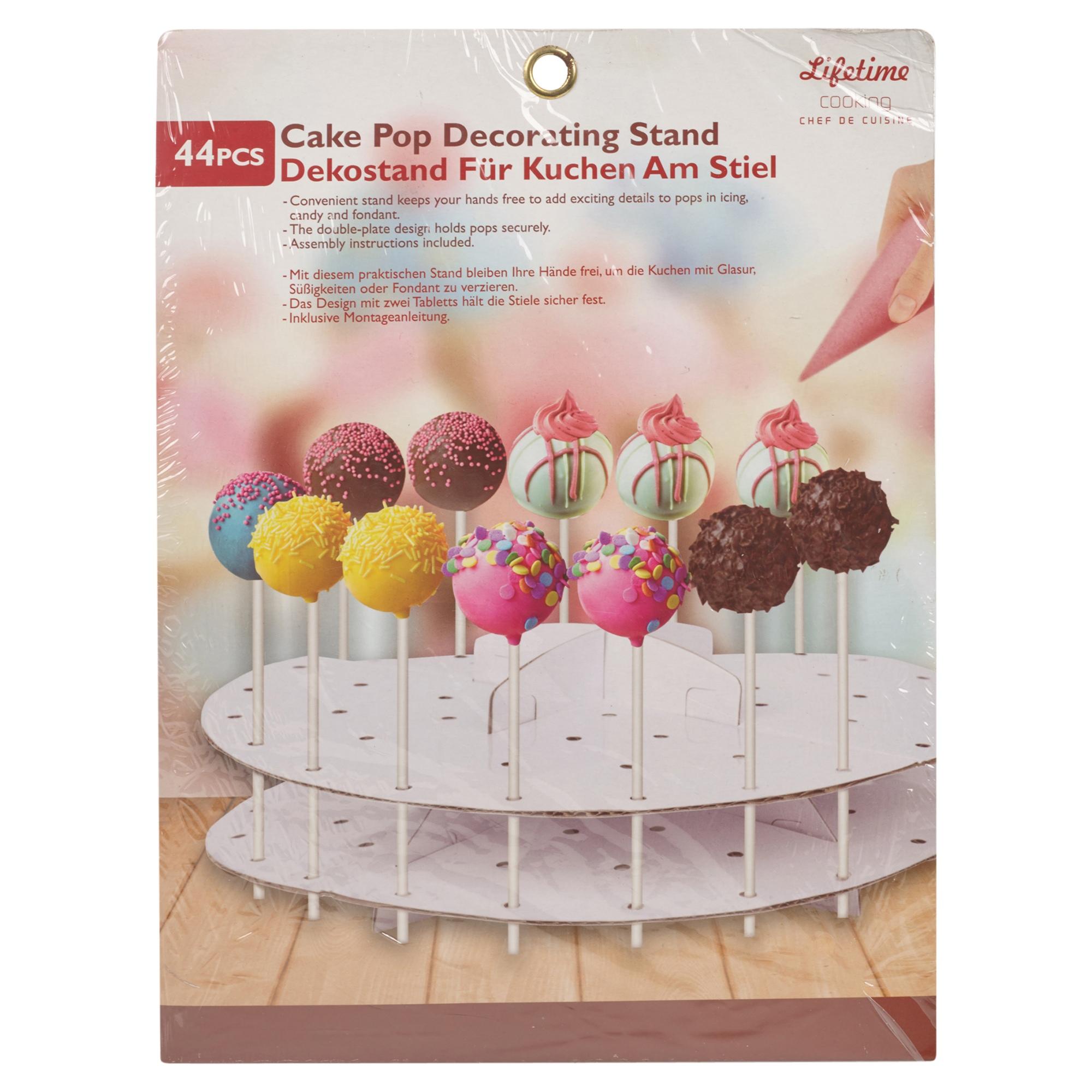 Cake pop decoration stand lollipop decorating cardboard for Pop cake decoration